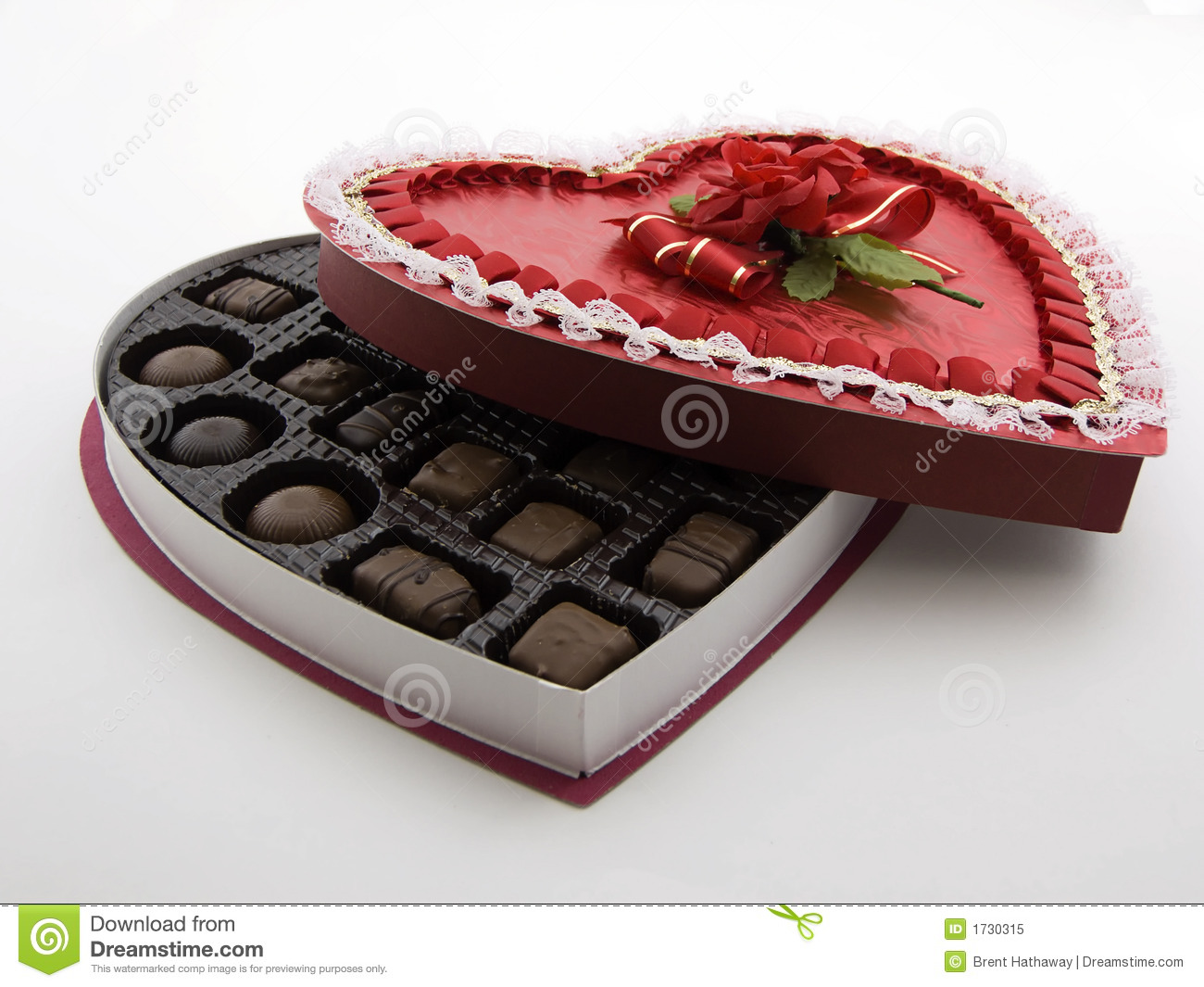 Valentine Chocolate Box Stock Image Image Of Gift Romantic 1730315