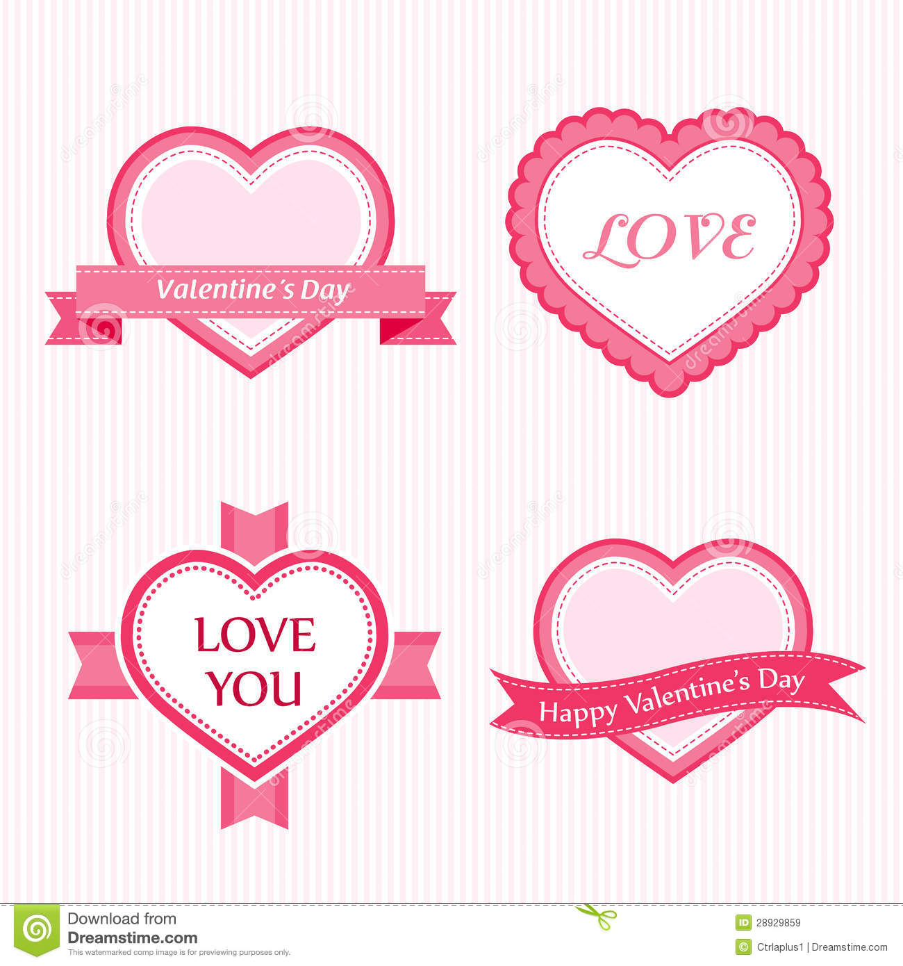 Valentine Collection of Labels