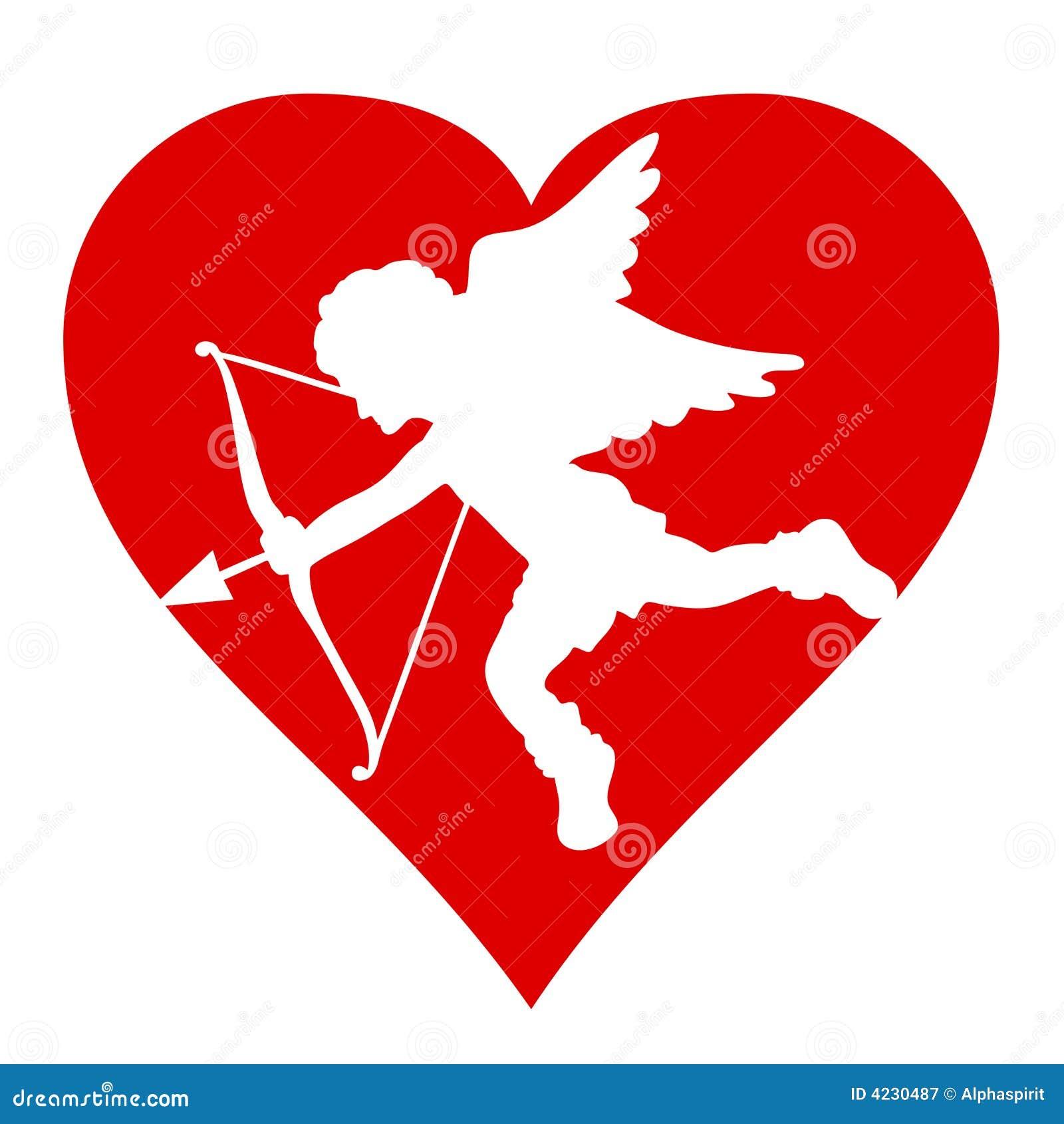 Valentine Cupido silhouette