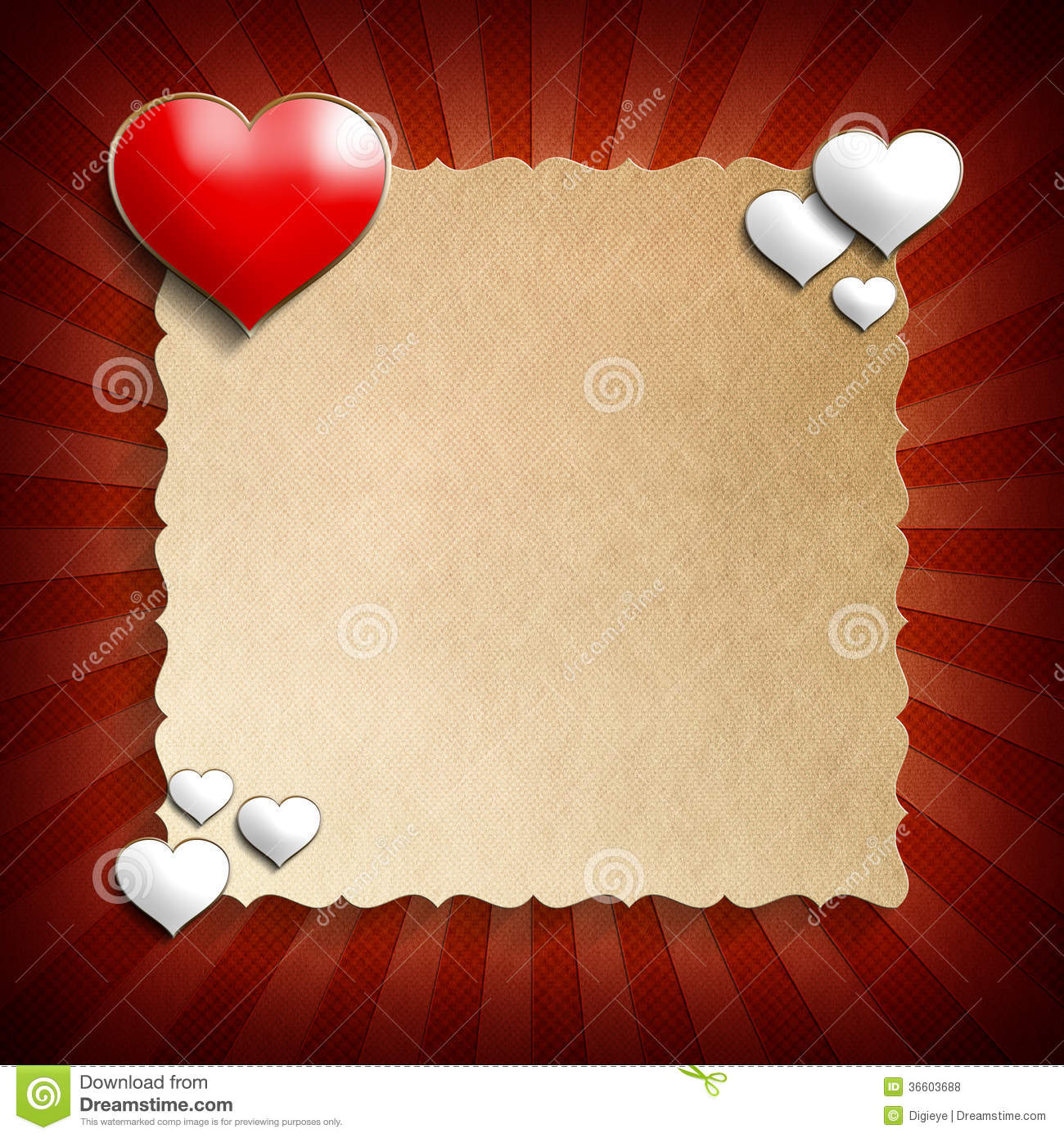 Valentine Day Background Template Royalty Free Stock