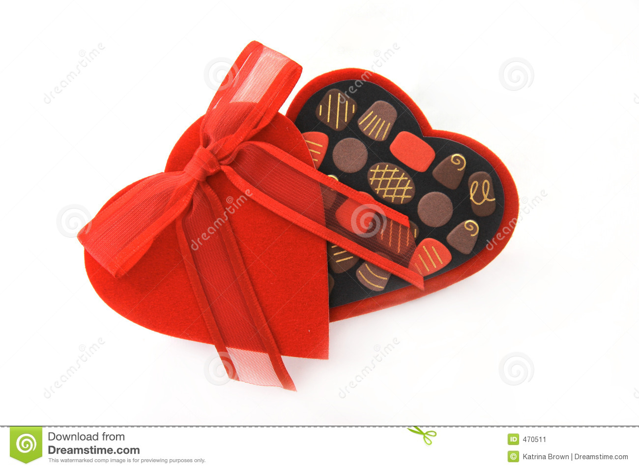 Valentine Day Candy Heart Box Stock Image Image Of Cupid Gilded