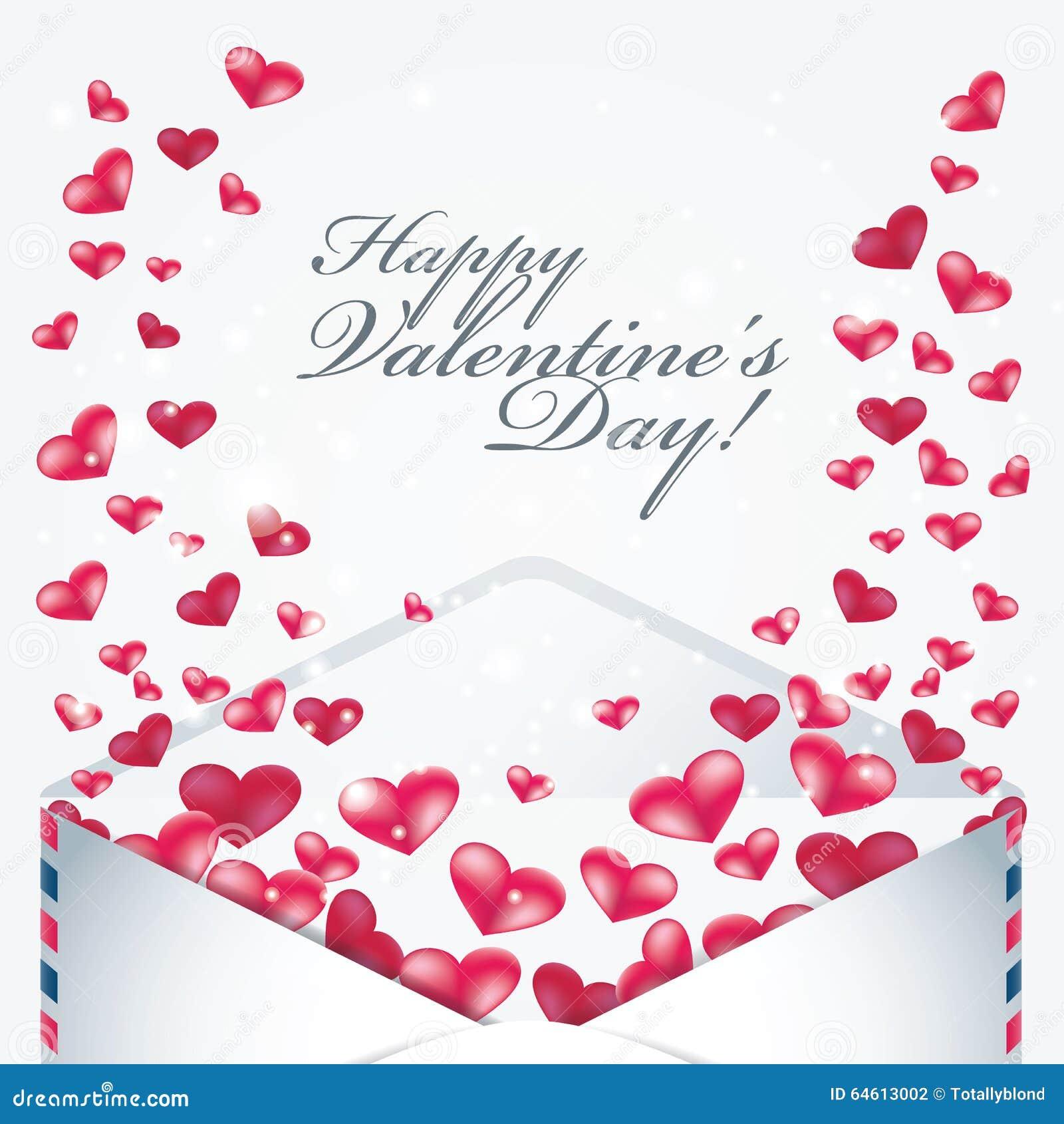 Valentine Day Cards Design With Hearts Illustration Image – Valentine Cards Design