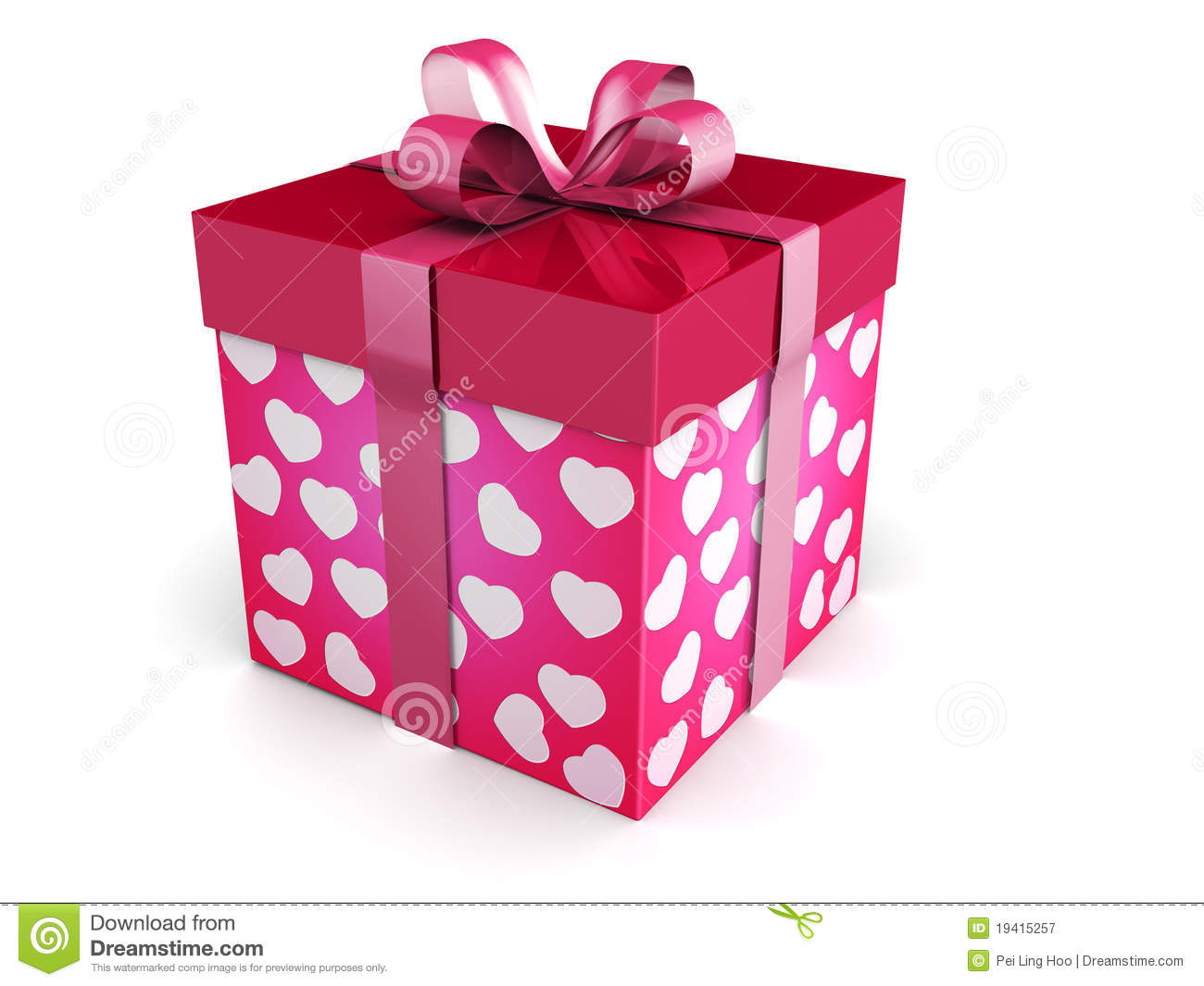 Valentine Day Concept Gift Box Stock Illustration Image
