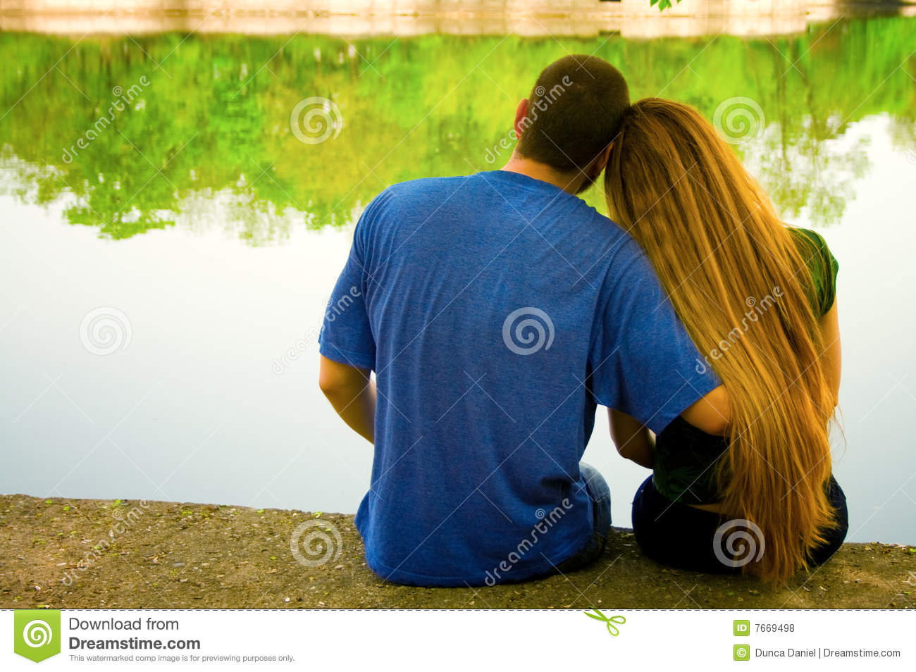 Valentine Day Concept Lovers Couple Outdoor Stock Photo Image Of