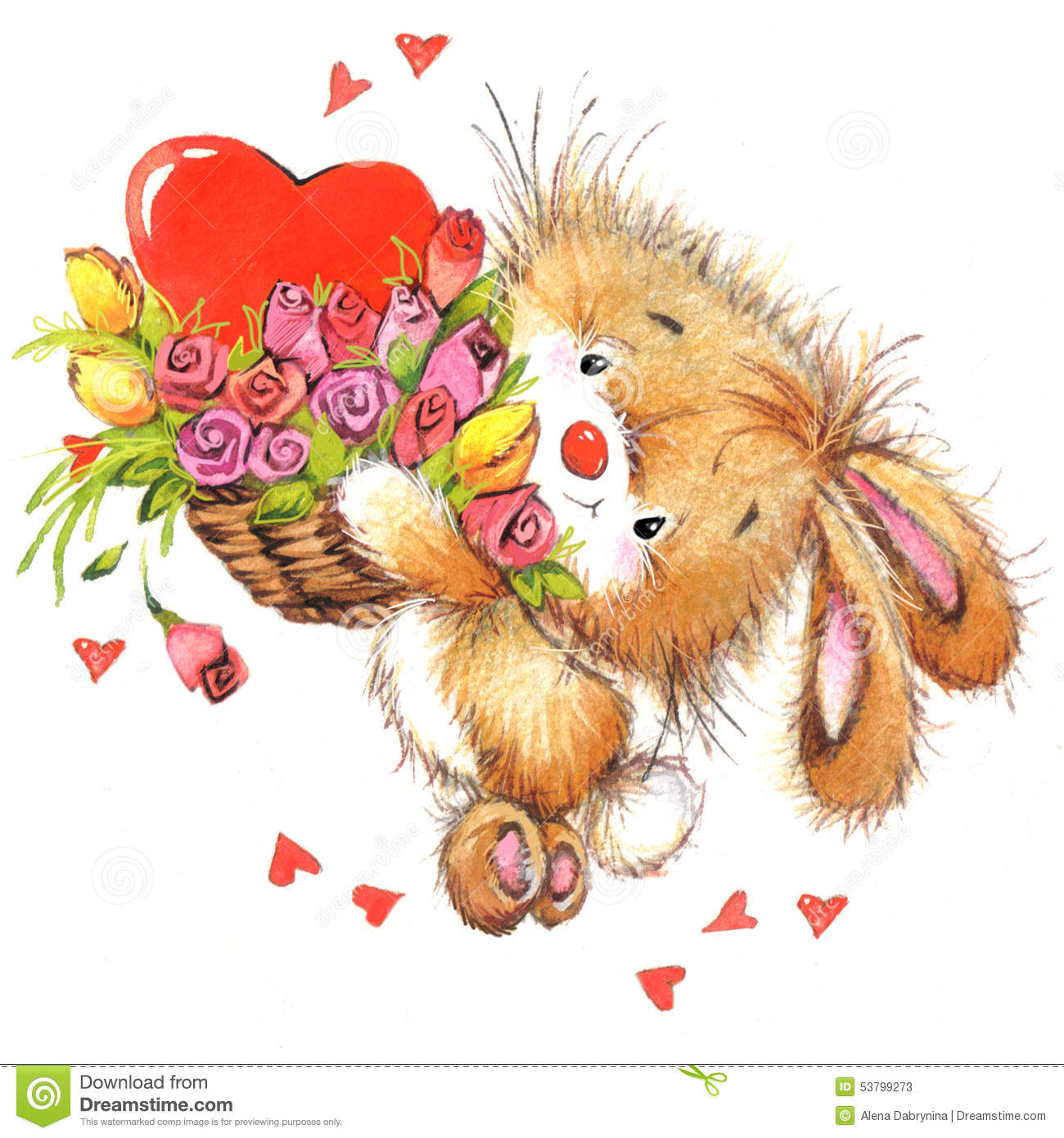 Valentine day and cute animal stock illustration image - Valentine s day animal pics ...