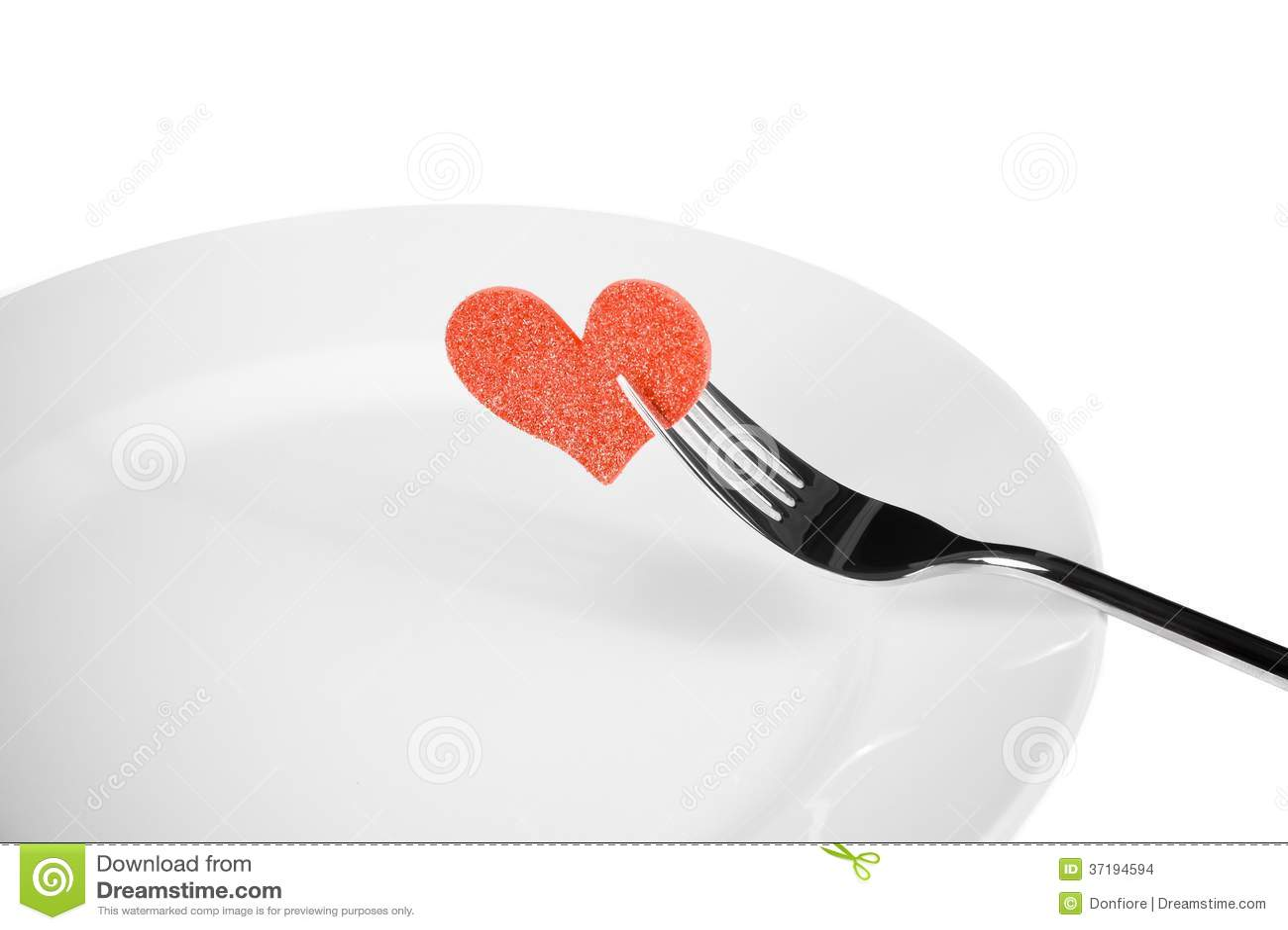 Valentine Day Dinner To Restaurant On White Background Stock Photo