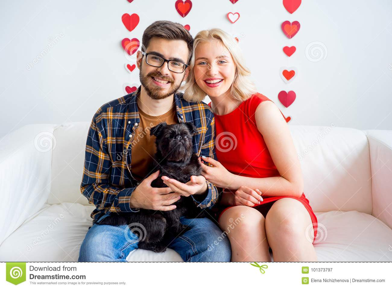 Valentine day with a dog