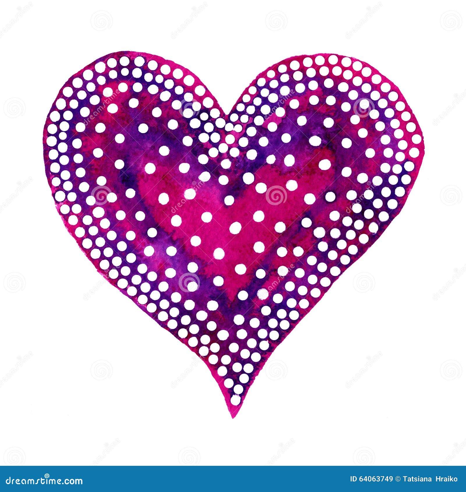 Valentine Day feliz! A aquarela pintou o coração, elemento para seu projeto bonito Ilustração da aquarela para seu cartão ou cart