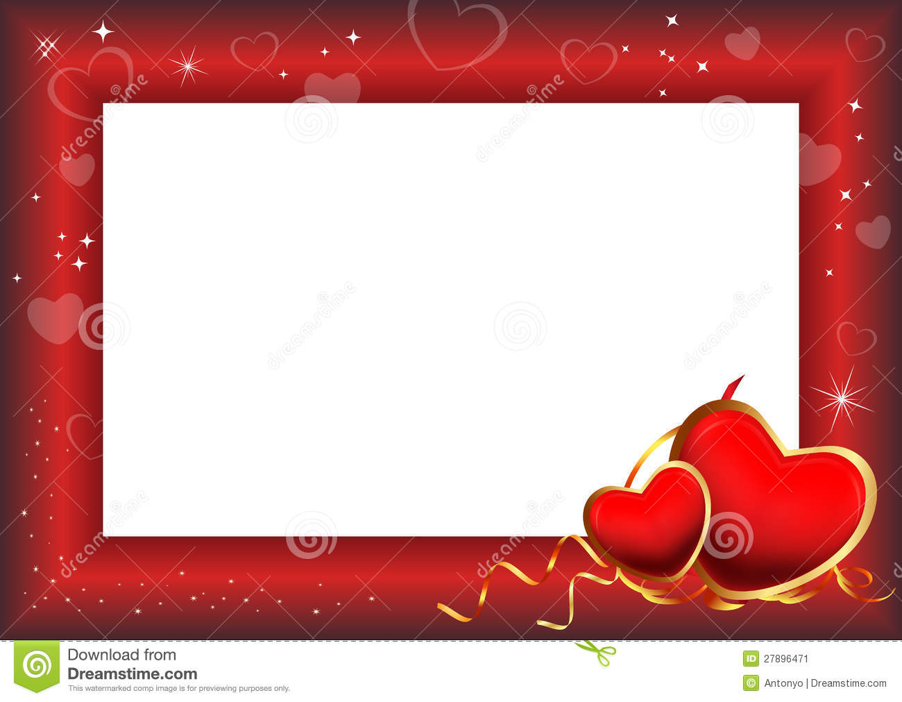 Valentine Day Frame stock illustration. Illustration of glamour ...