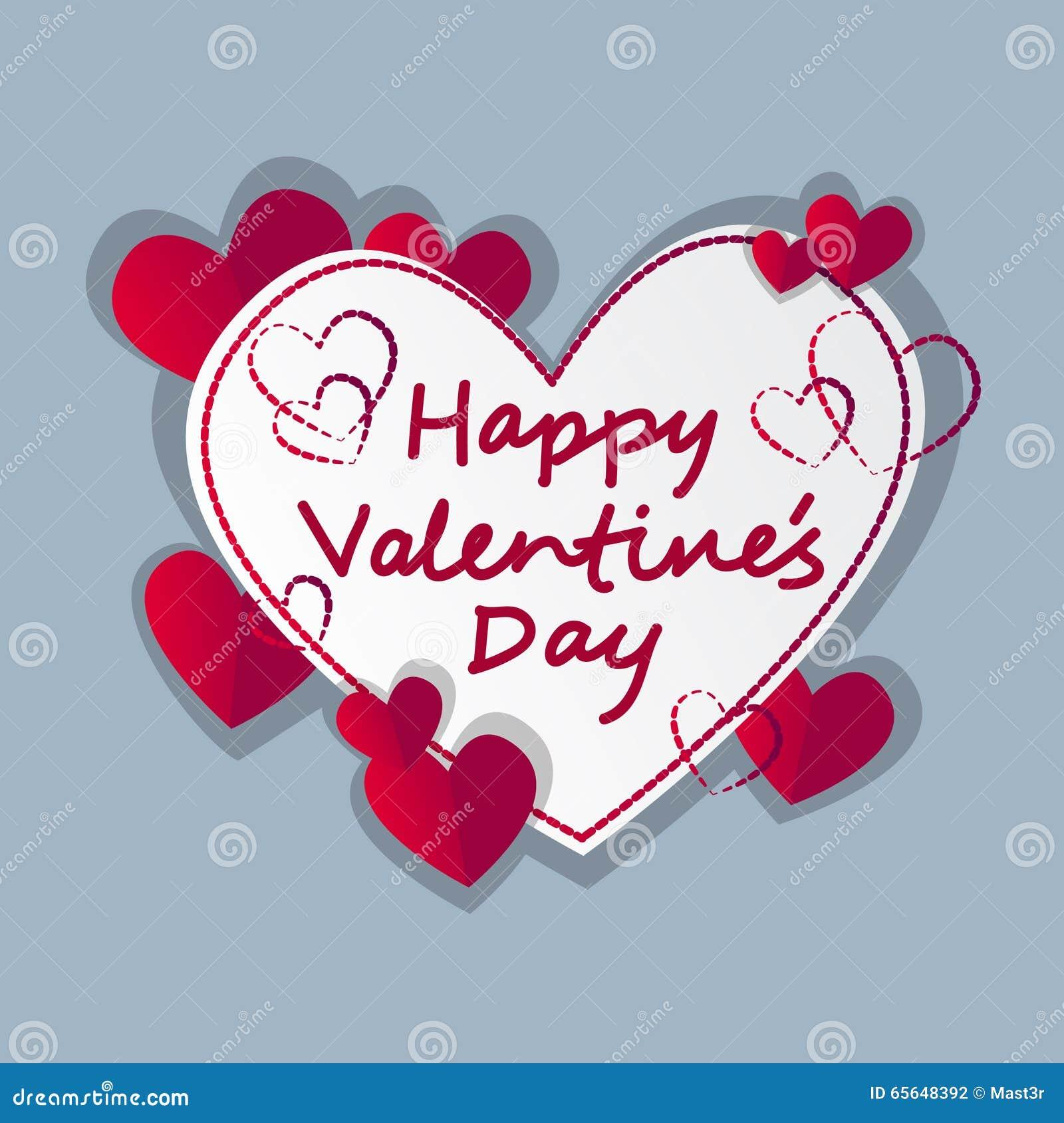 Valentine Day Gift Card Holiday Liebes Herz Form Vektor Abbildung