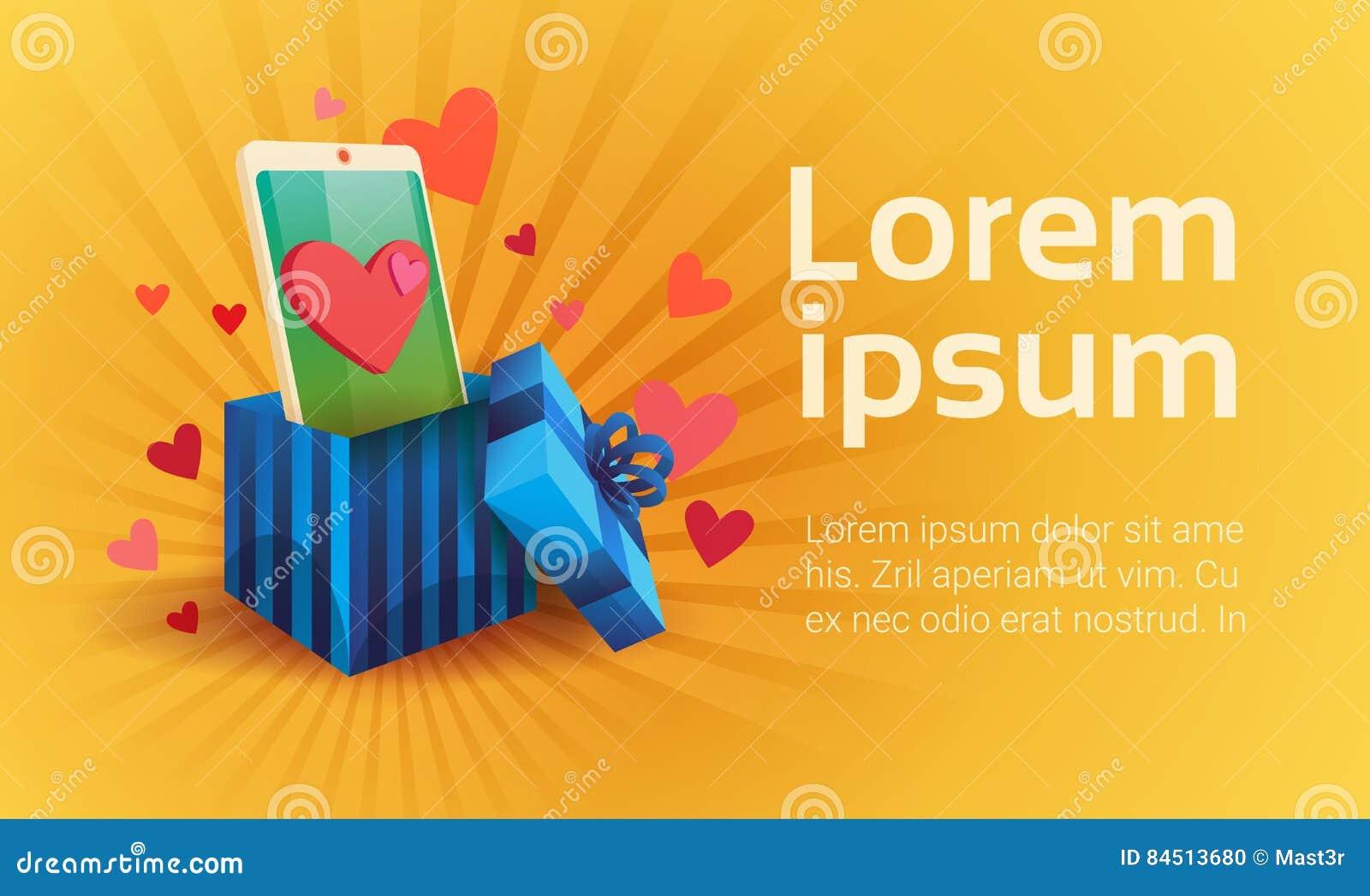 Valentine Day Gift Card Holiday-Mededeling van het de Telefoon Sociale Netwerk van de Liefdecel de Slimme