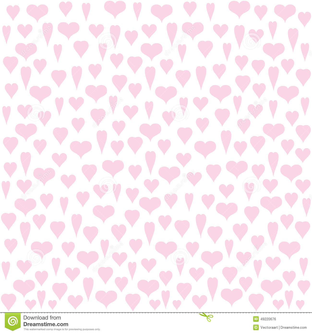 Valentine Day Gift Wrapping Paper Design Stock Vector Illustration