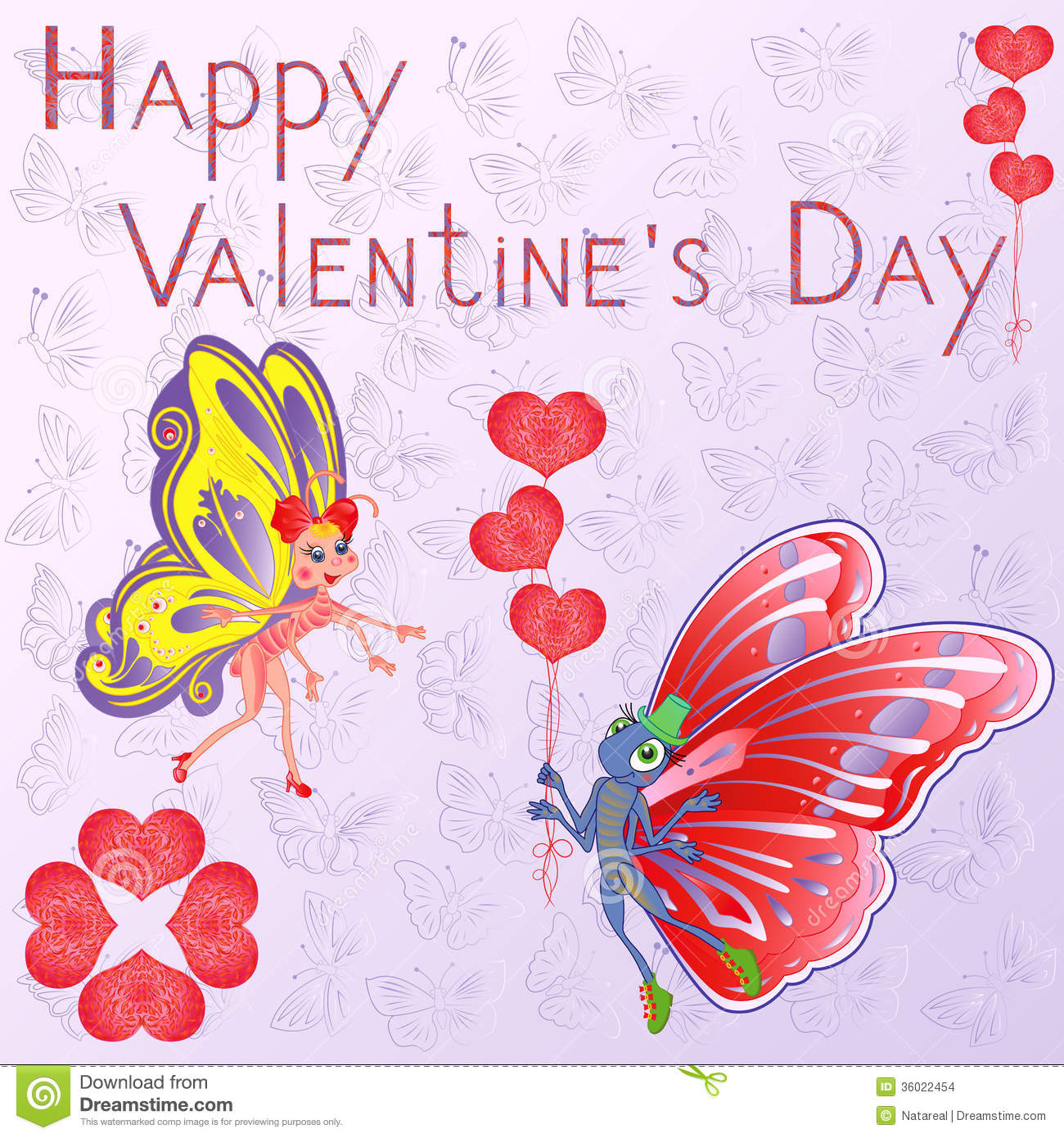 Valentine Day Greeting Card Stock Vector Illustration Of Heart
