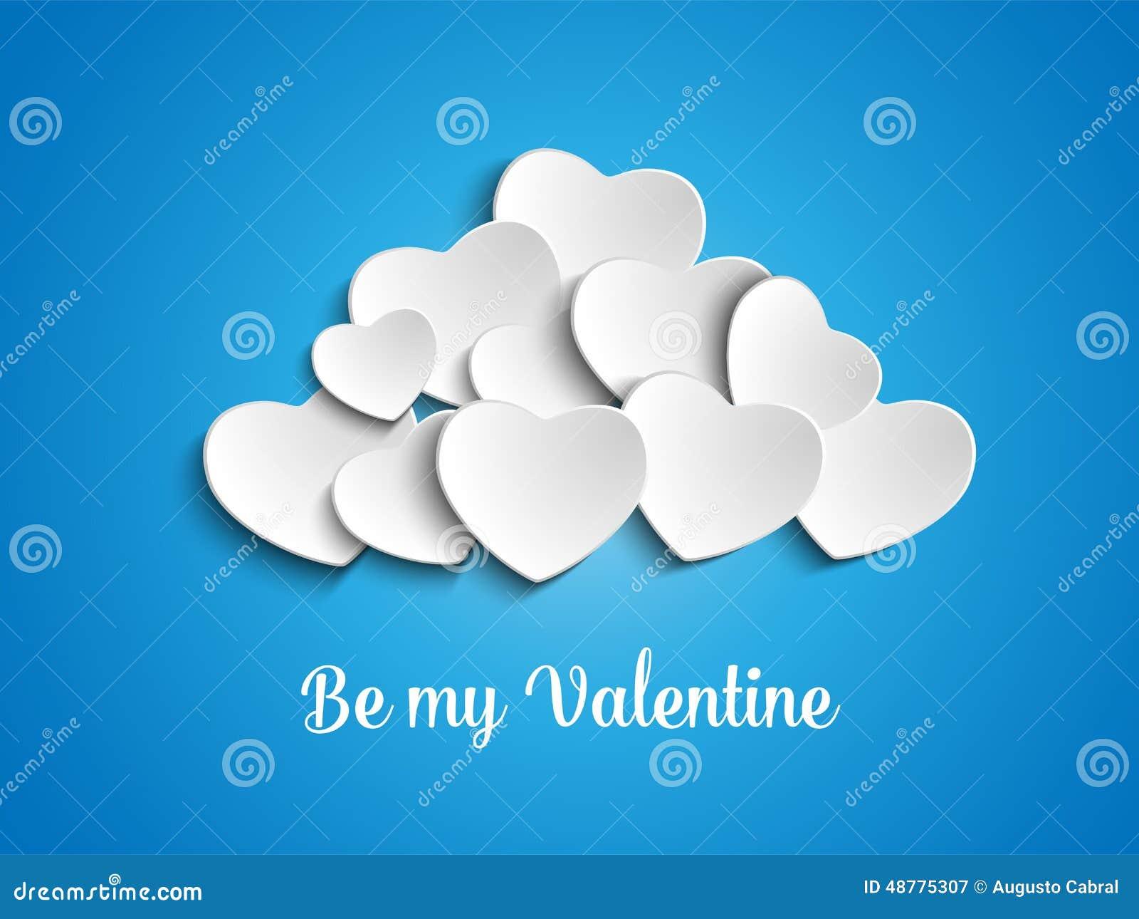 Valentine Day Heart Clouds no céu
