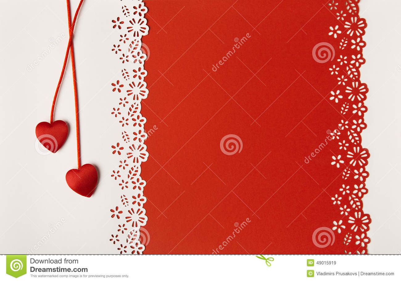 Valentine Day Hearts Red Background. Wedding Greeting Card Stock ...
