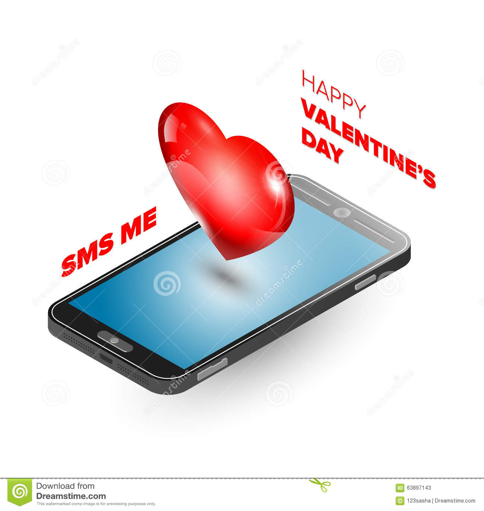 Valentine Day Illustration Stock Vector Illustration Of Love 63897143