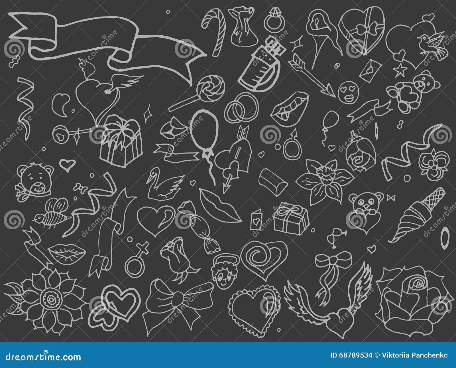 Line Art Valentine : Valentine day line art design vector stock illustration of