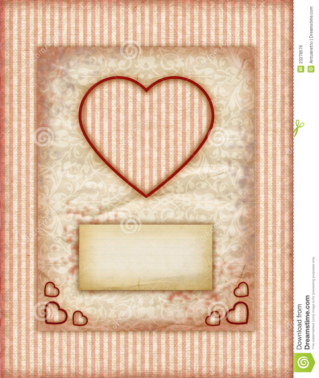Valentine Day Love Cards Vintage Love Notes Royalty Free – Valentine Note Cards