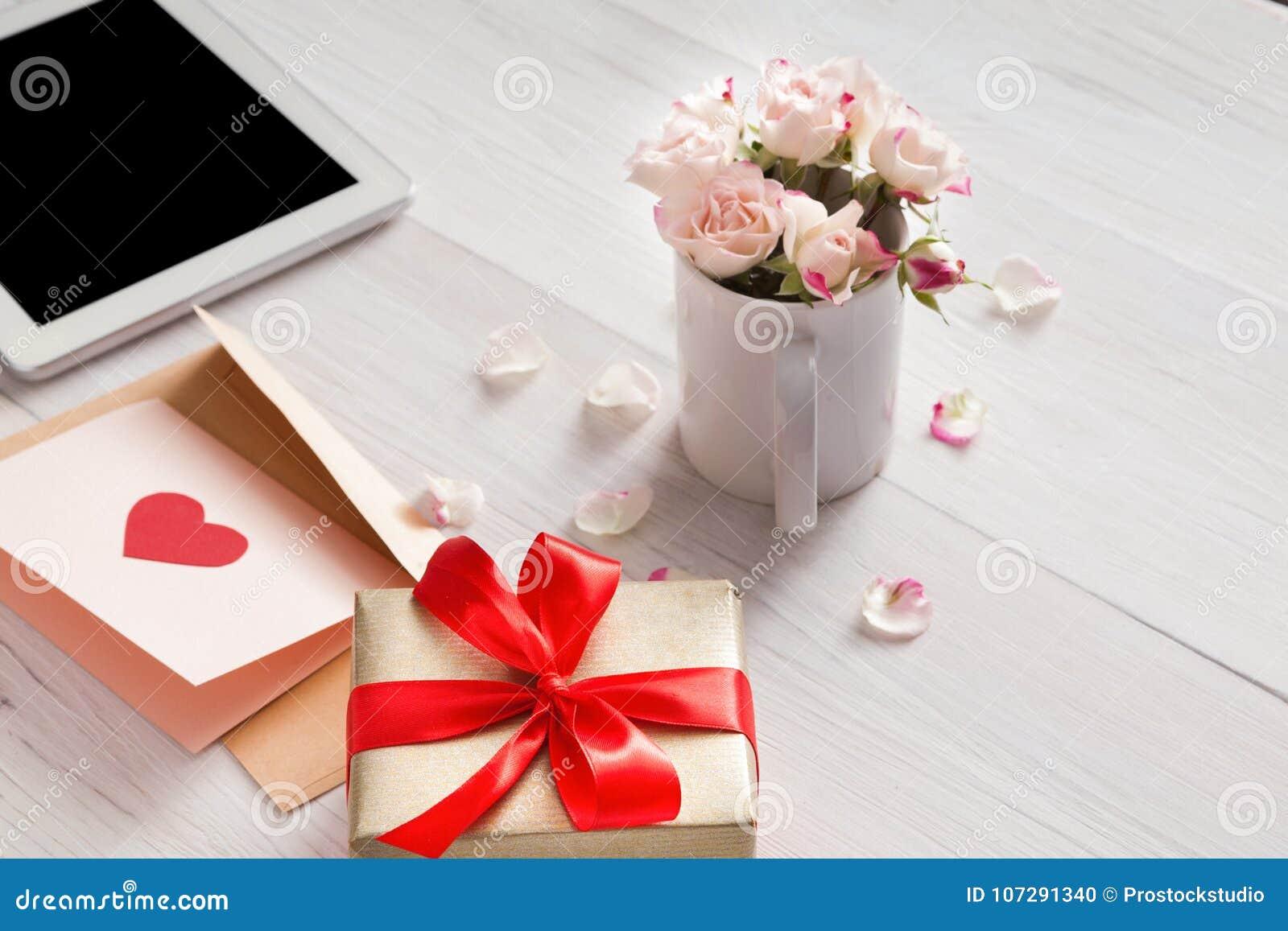 valentine day online shopping background stock photo image of
