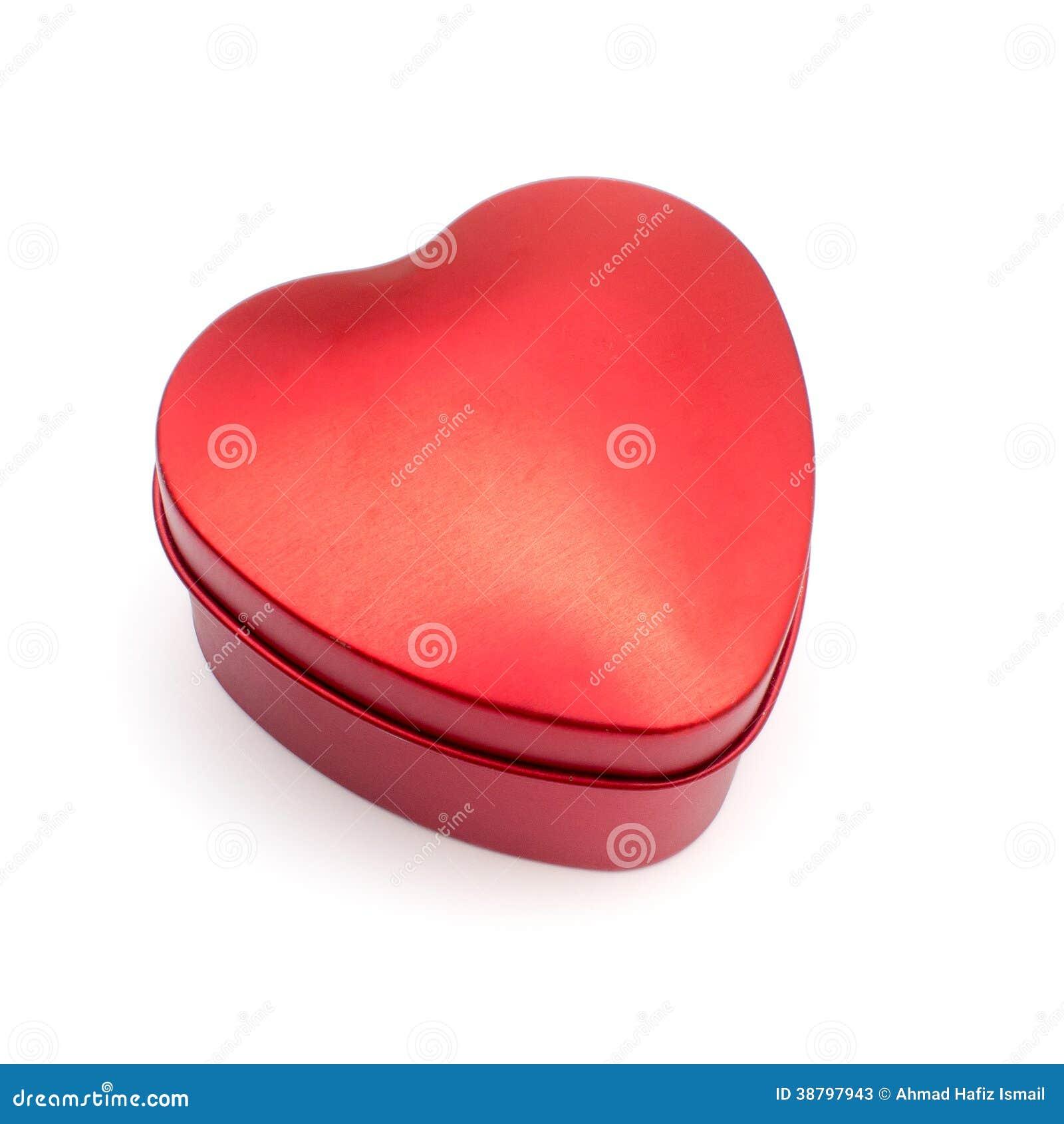 Valentine Day Red Heart Box