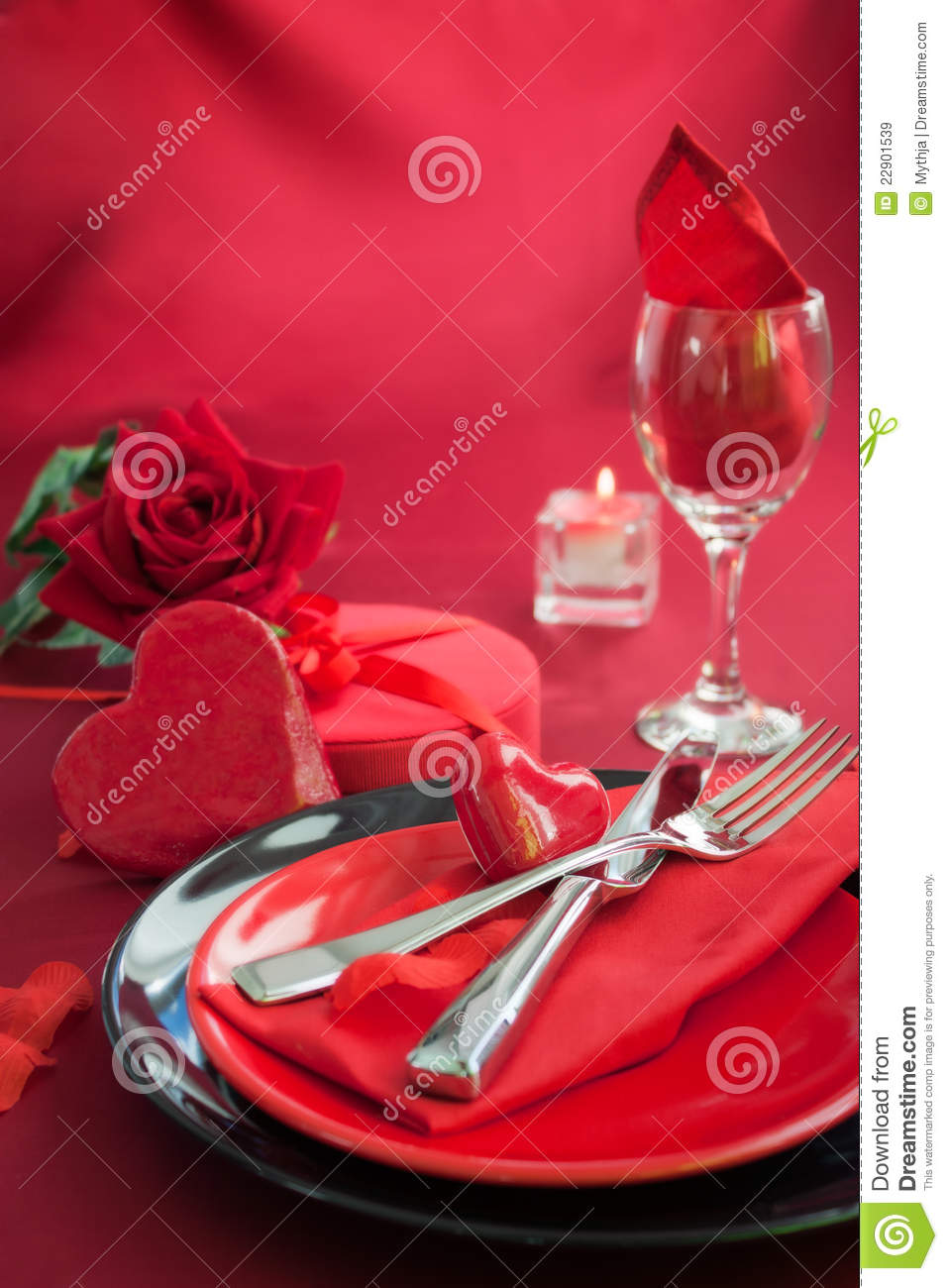 Valentine Day Romantic Table Setting Royalty Free Stock Images ...