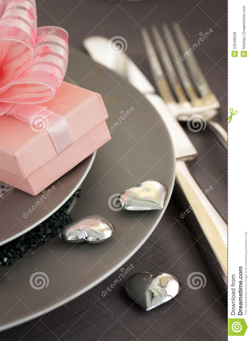 Valentine Day Romantic Table Setting Royalty Free Stock Photos ...