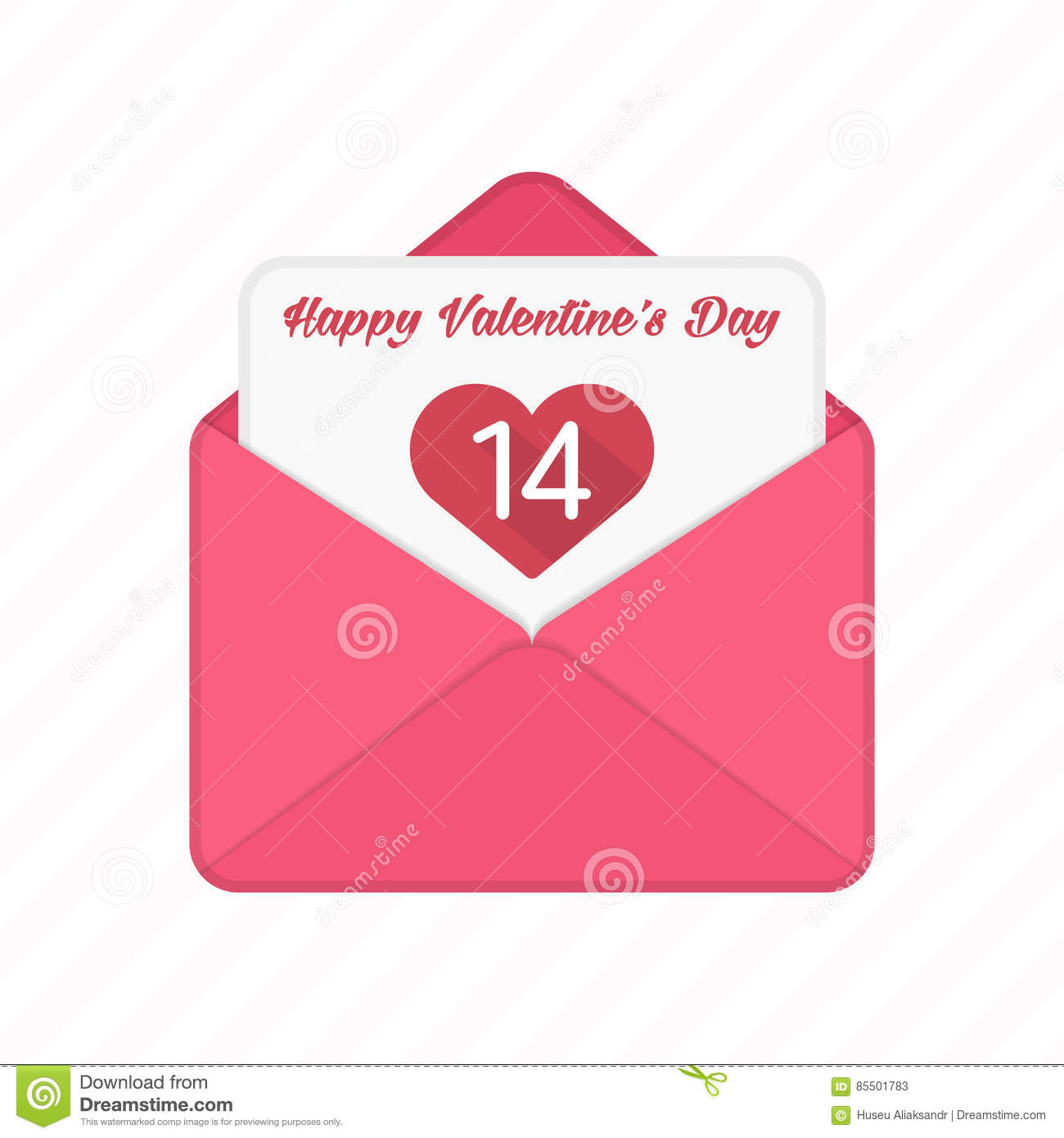 Valentine Day Vector Envelopes Stock Vector Illustration Of