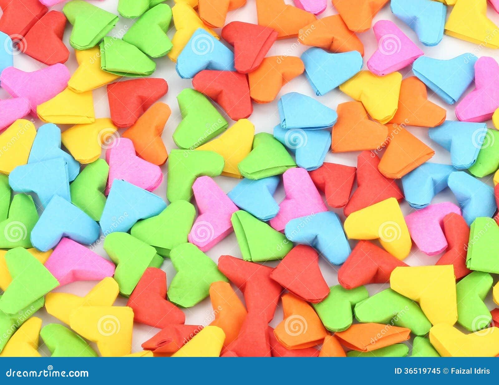 Valentine de forme de coeur d origami orientée