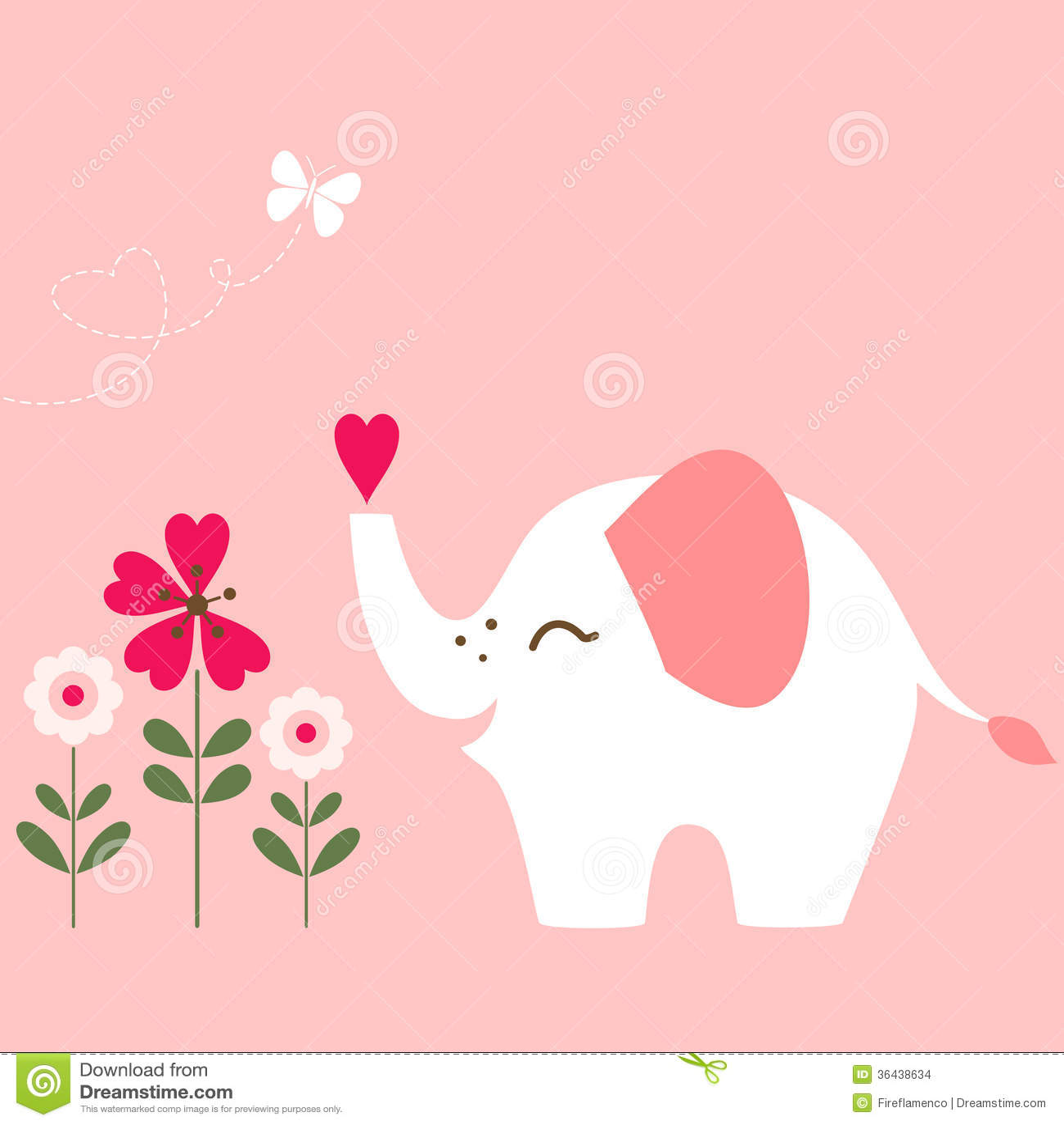 Valentine elephant stock images image 36438634 - Cute valentines backgrounds ...