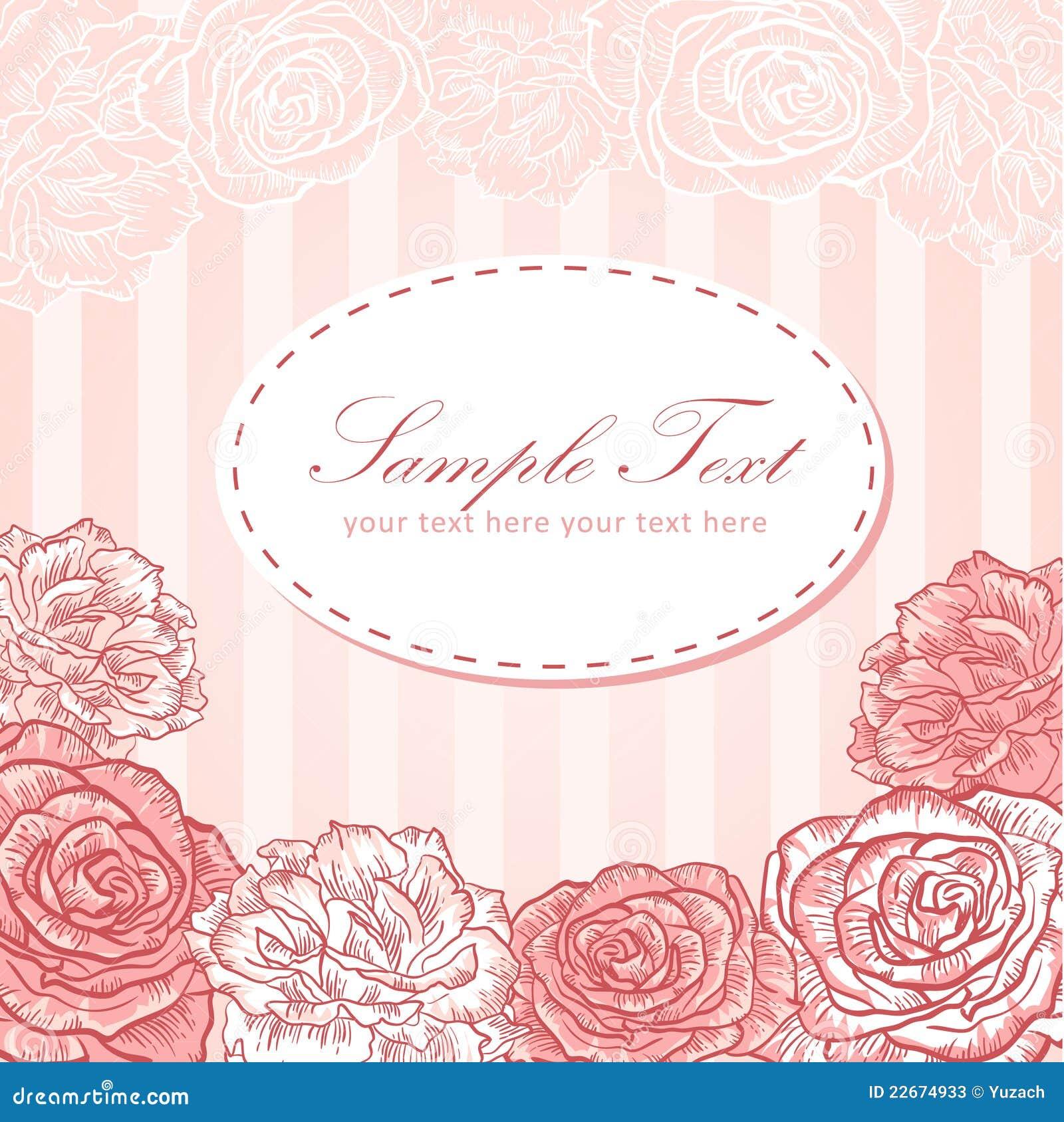 valentine flower stripe invitation love card stock vector