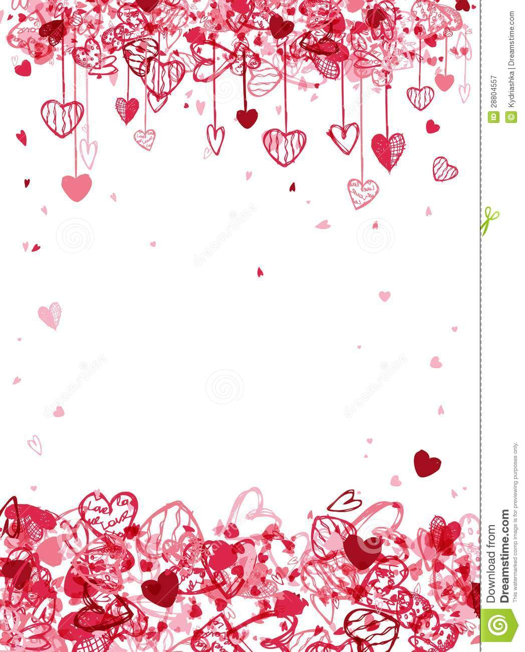 Valentine frame design with space for your text. This is file of EPS10 ...