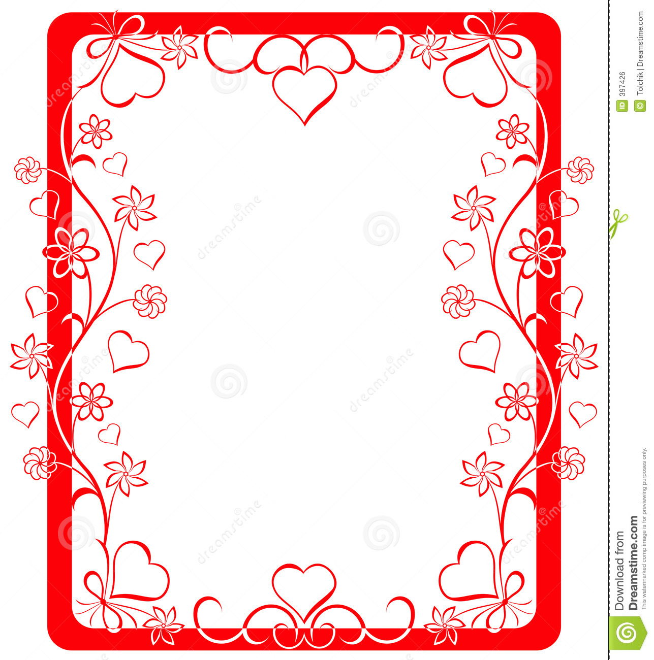 Valentine frame, vector stock vector. Illustration of illustration ...
