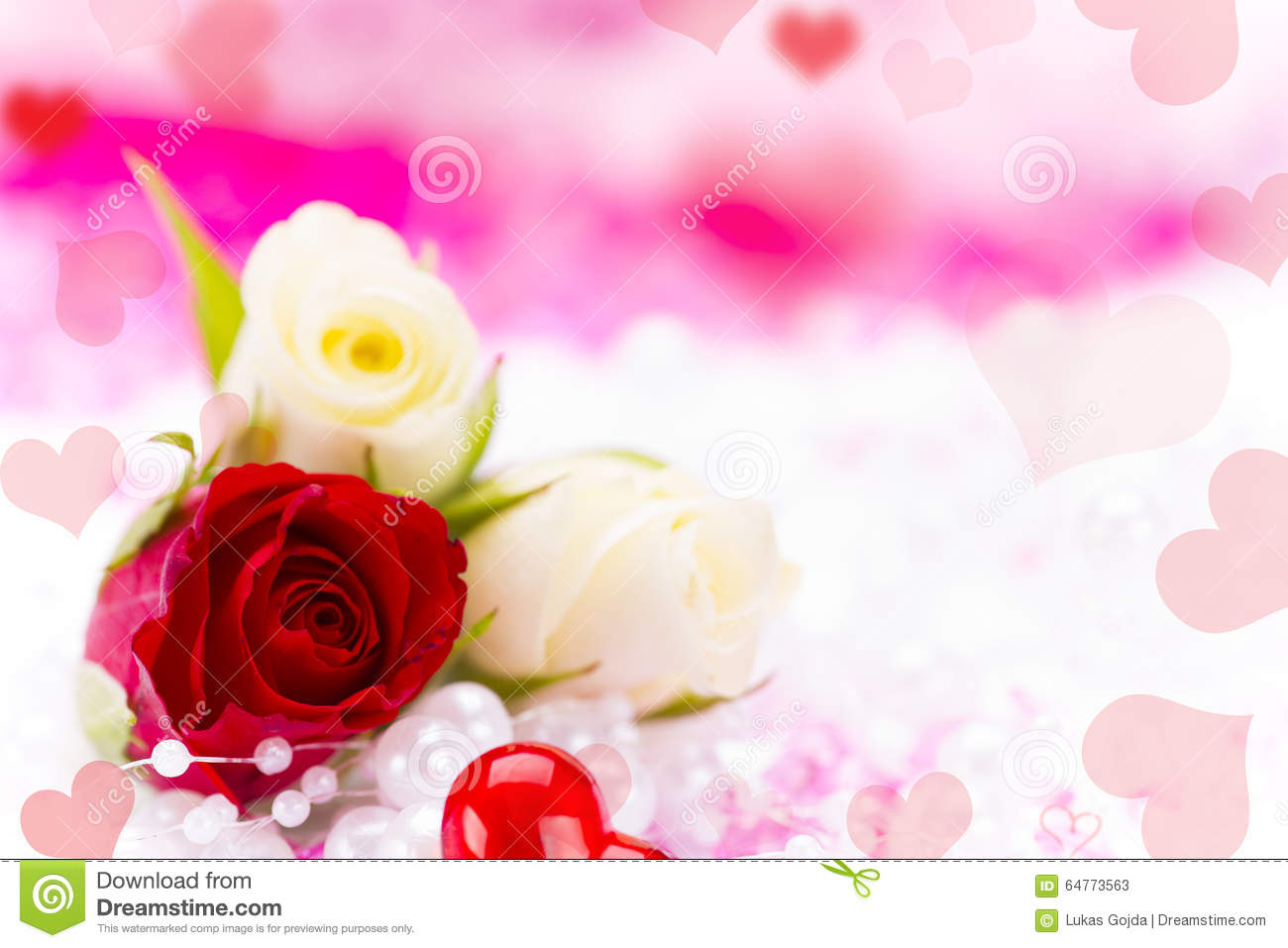 Valentine Gift Background Stock Image Image Of Concept 64773563