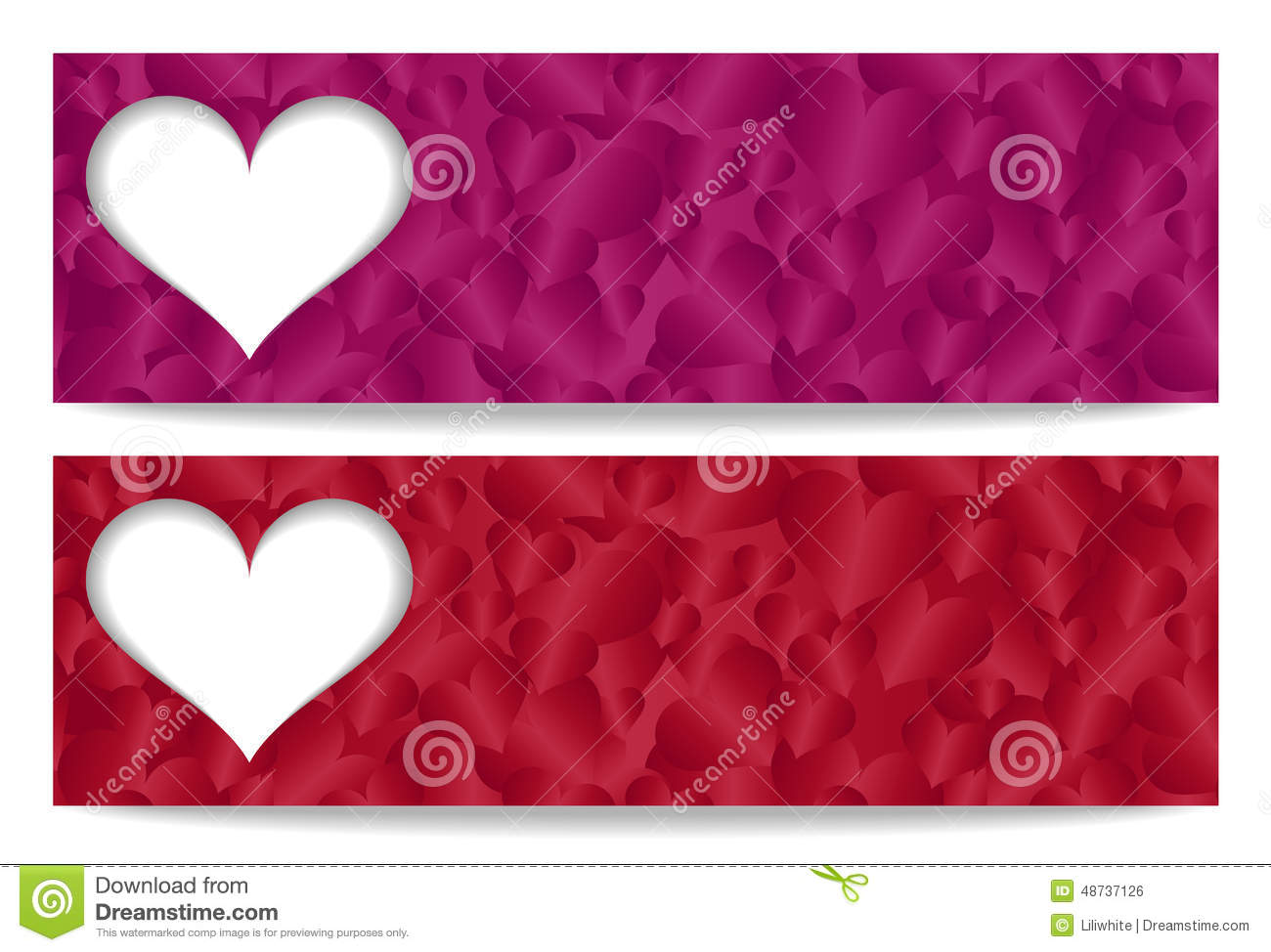Valentine Gift Certificate With Paper Heart And He Stock