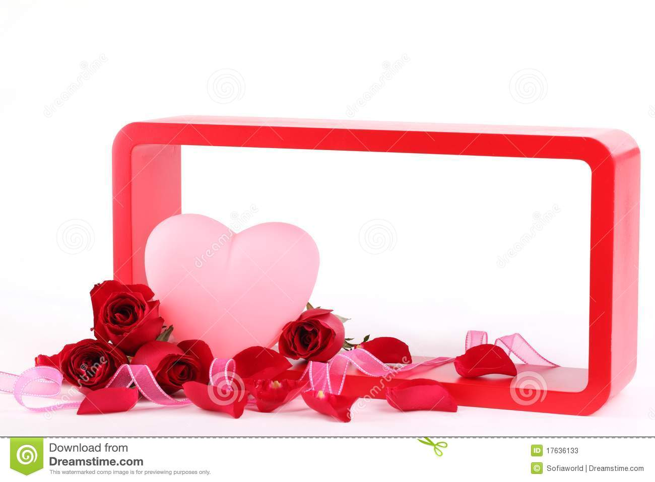 Valentine Gift With Frame Stock Image Image Of Rose 17636133