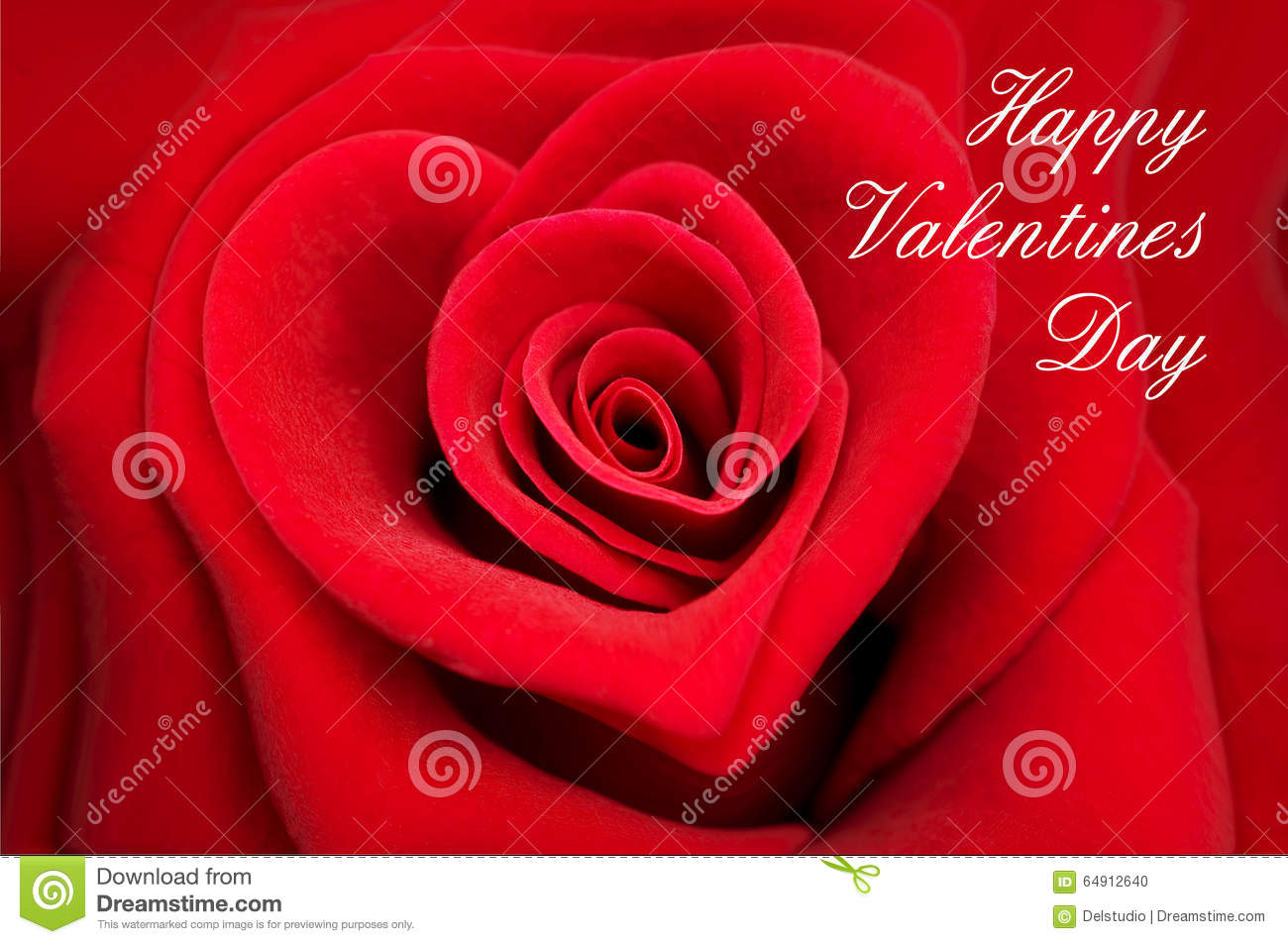 Valentine Greeting Card Red Rose In Shape Of A Heart Photo – Picture of a Valentine Card