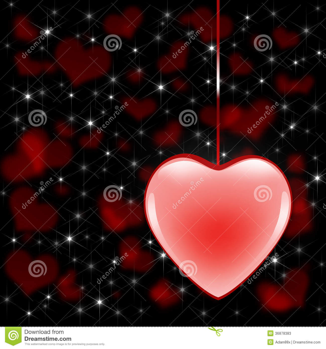 Download Valentine Heart Background illustrazione di stock. Illustrazione di grafici - 36878383
