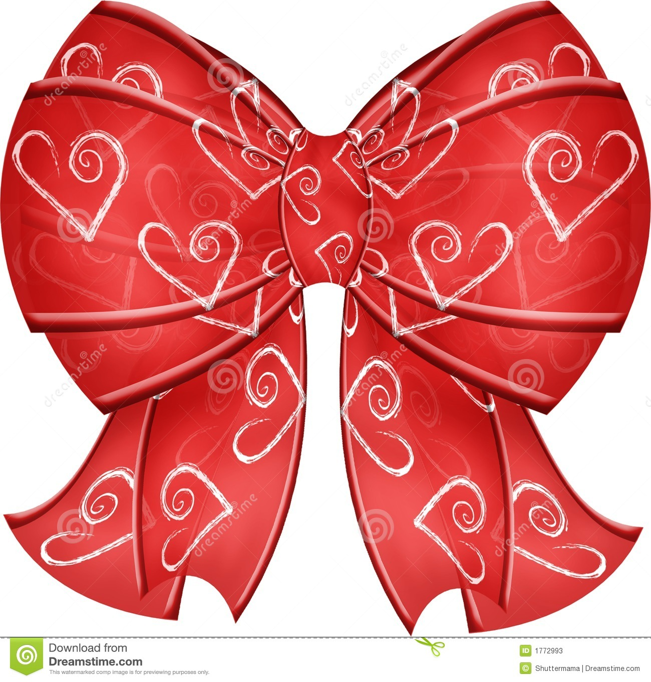 It is a picture of Enterprising Hearts With Bows