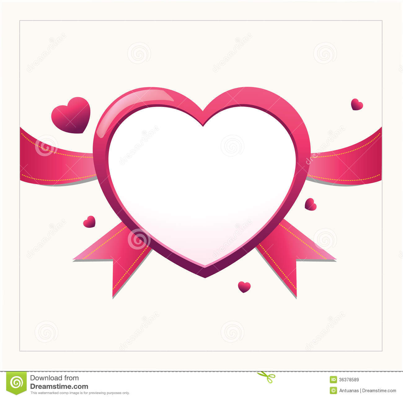 Valentine heart card design royalty free stock images The designlover