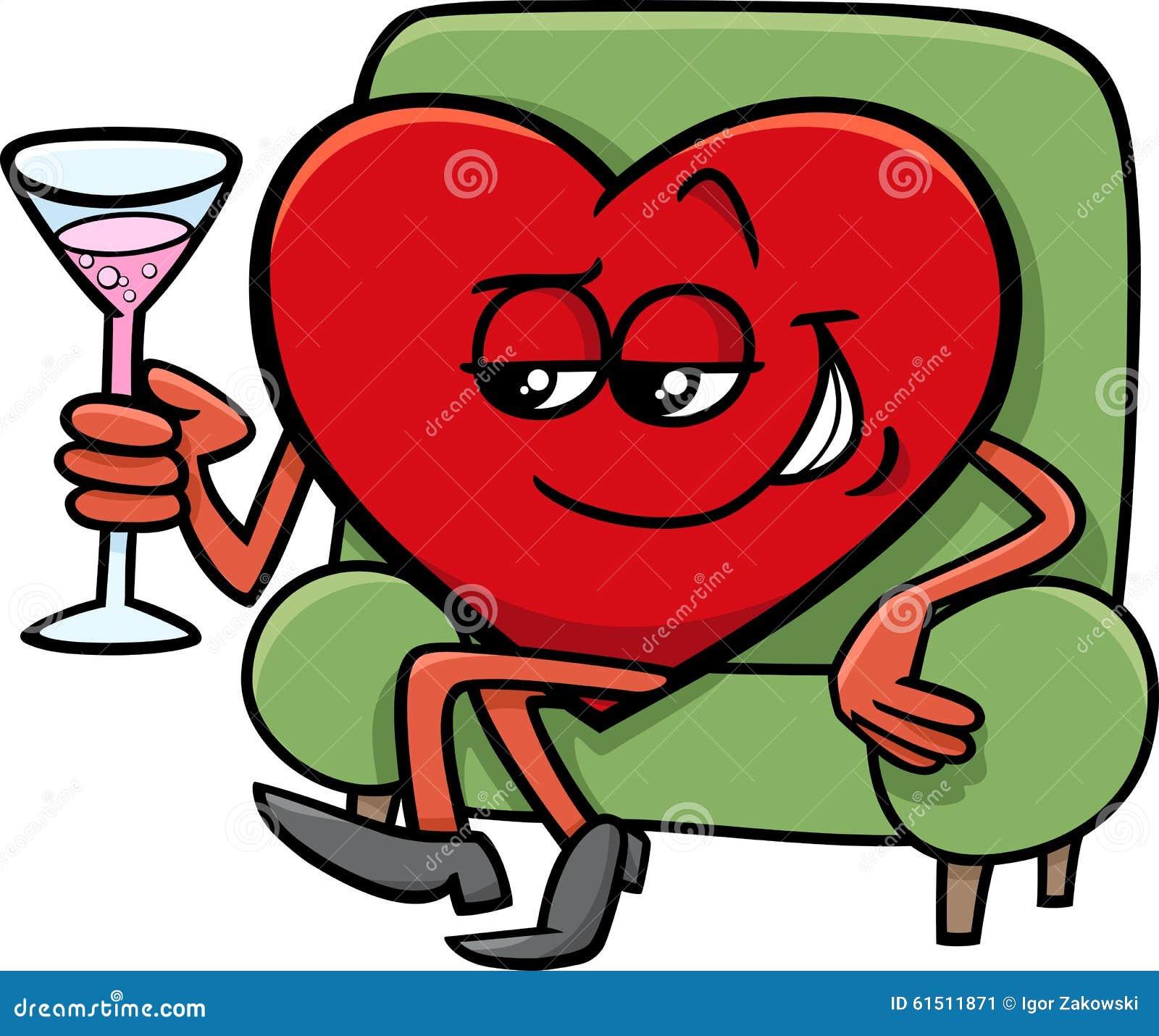 Cartoon Characters Valentines Day : Valentine heart cartoon character stock vector image
