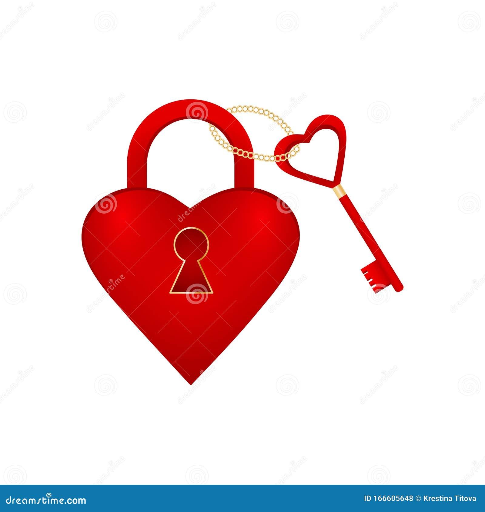 Heart Lock Key Stock Illustrations – 5,334 Heart Lock Key ...