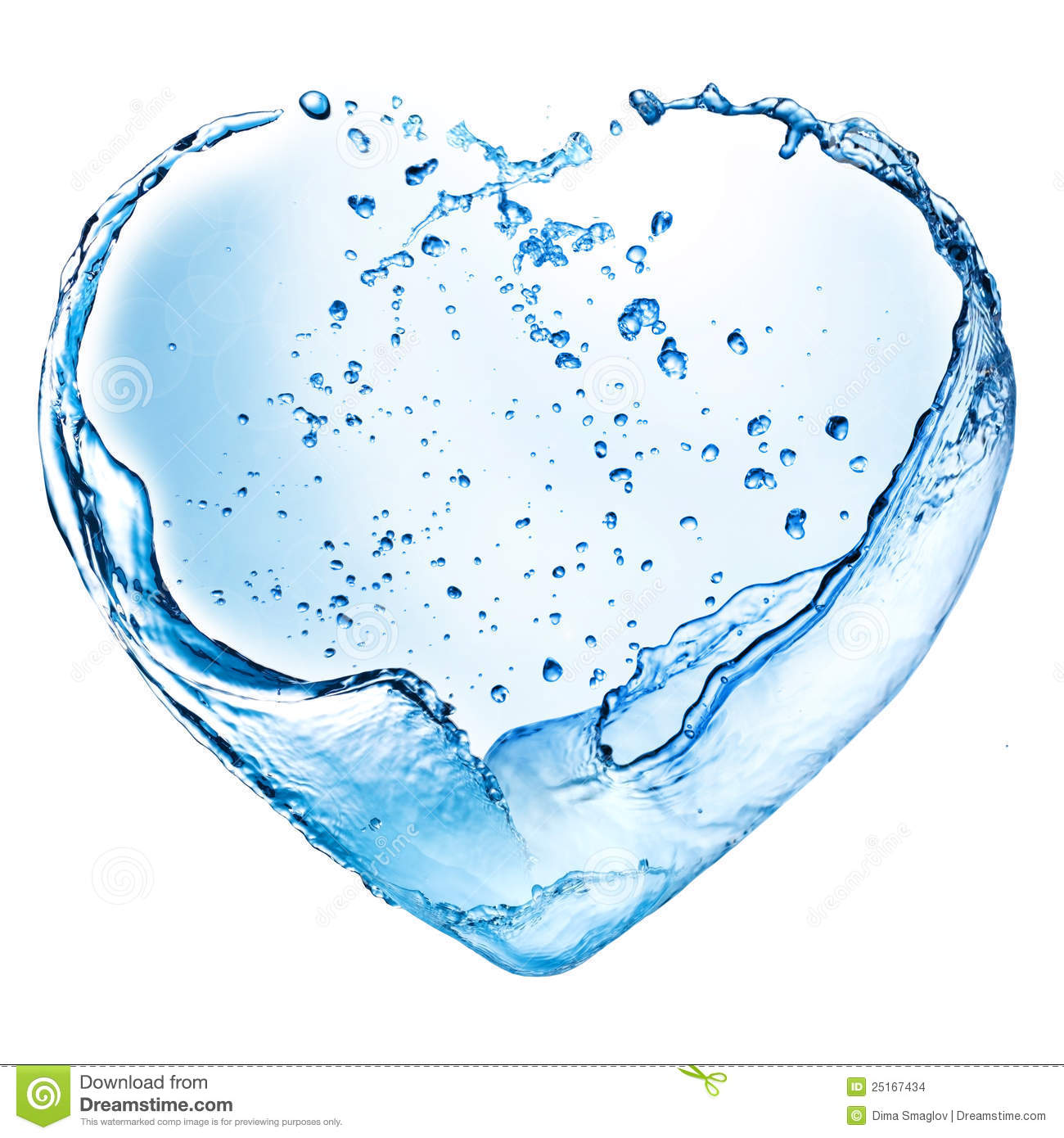 Valentine Heart Made Of Water Splash Stock Photo - Image ...