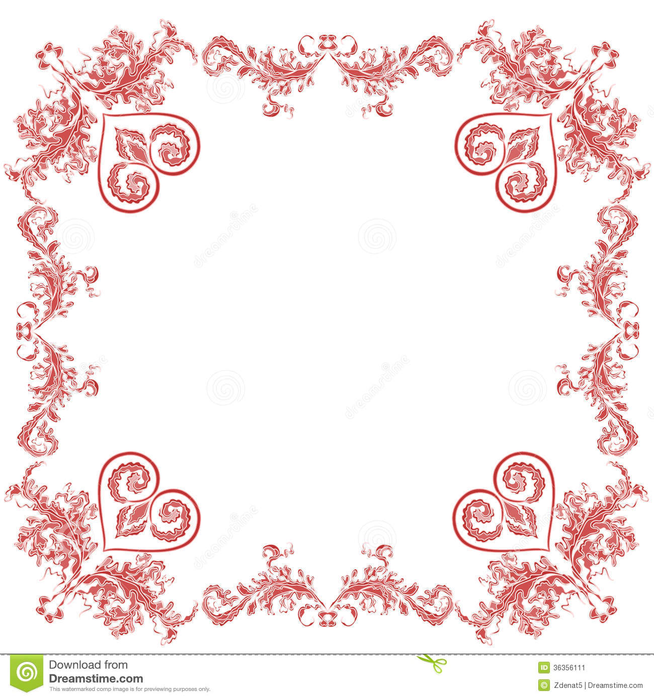 heart floral frame valentine - photo #14