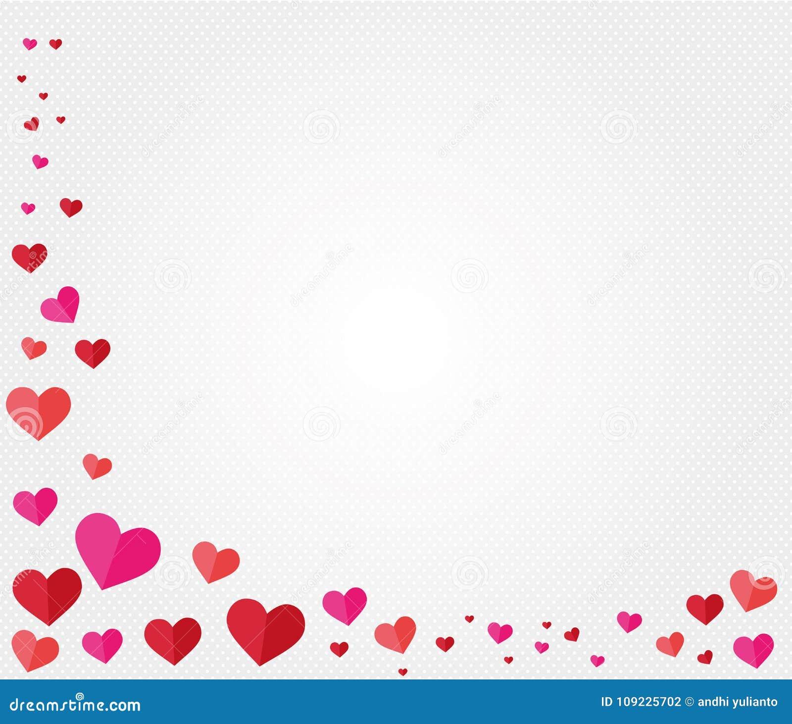 Valentine Heart Shape Theme Background Design Stock Vector