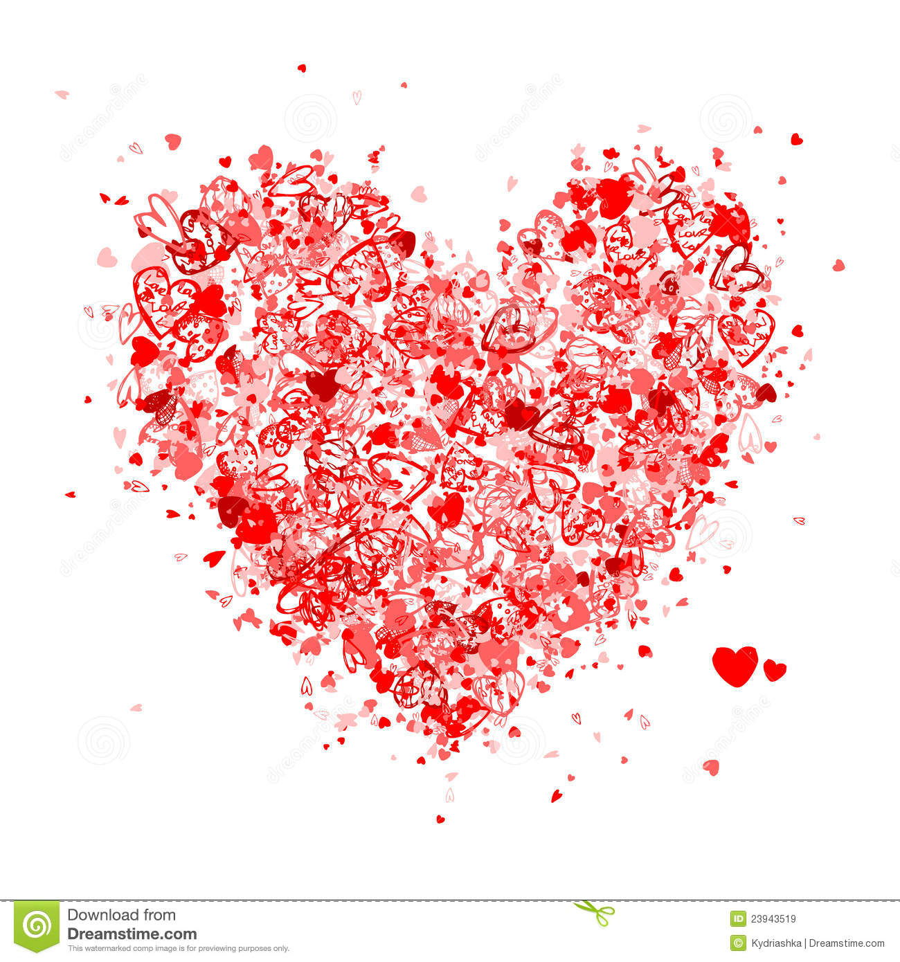 Valentine Heart Shape For Your Design Royalty Free Stock Images ...