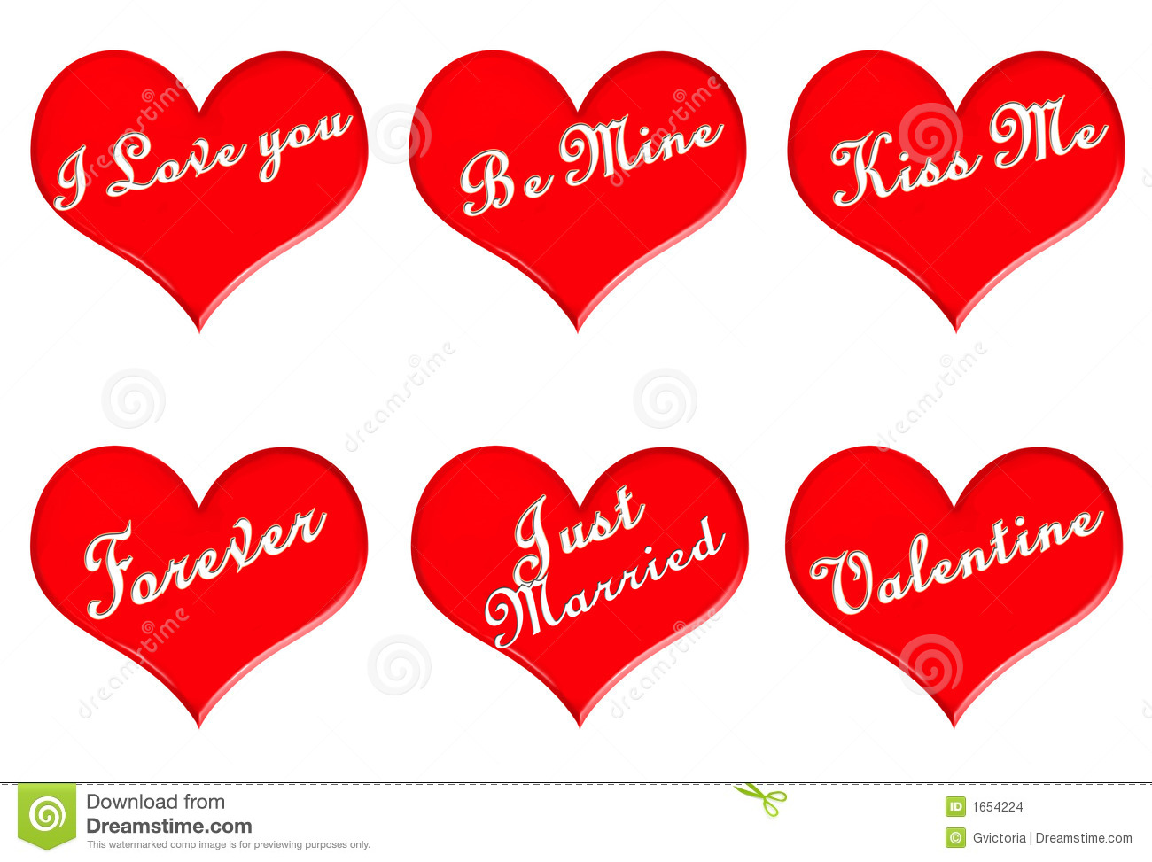 Valentine Hearts Stock Images - Image: 1654224