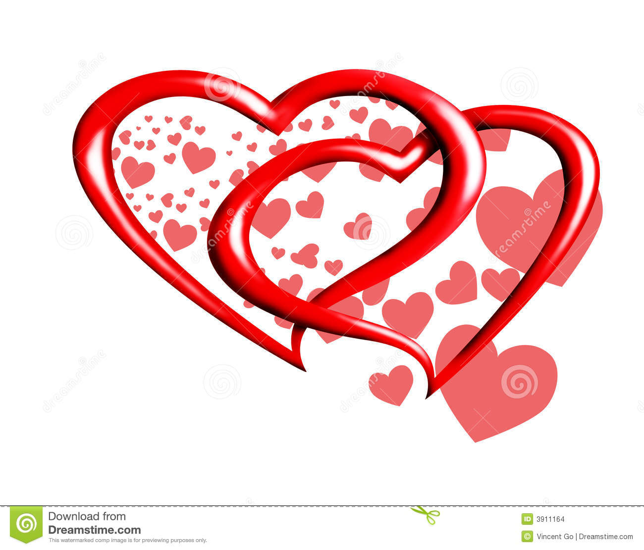 Valentine Hearts Stock Images - Image: 3911164