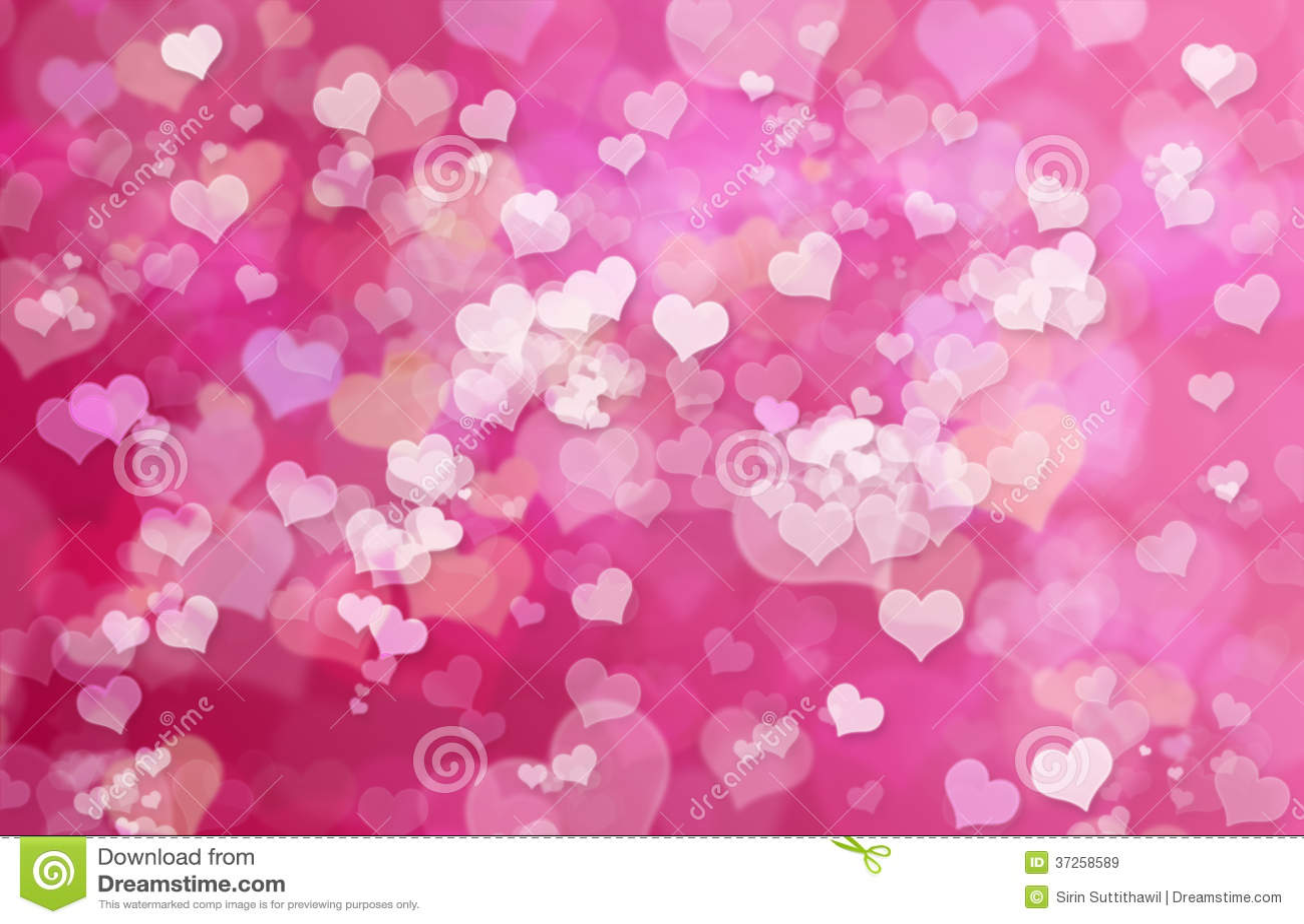 Valentine Hearts Abstract Pink Background Valentinstag