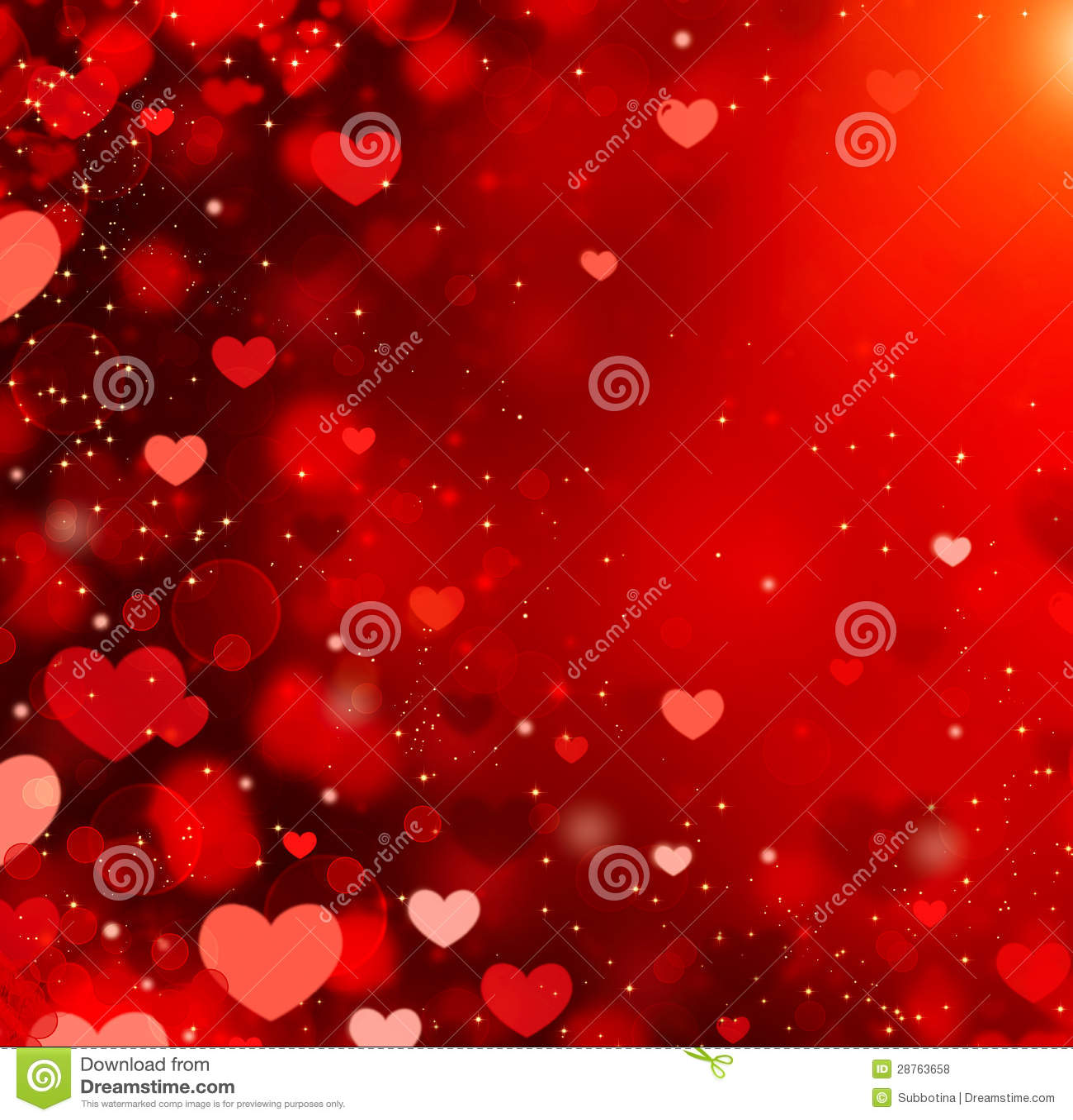 Valentine Hearts Background