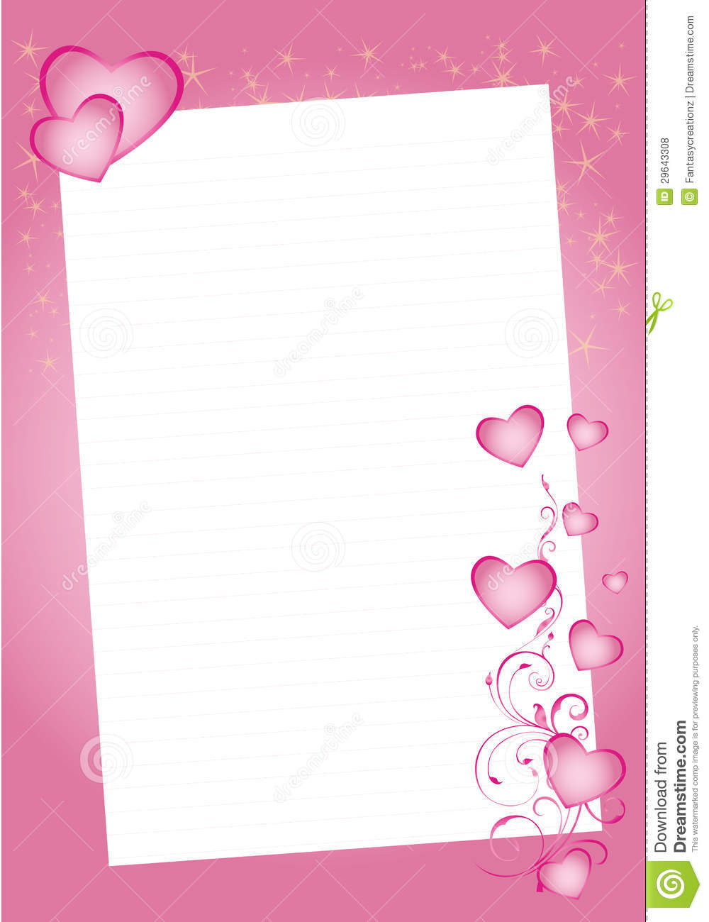 download valentine hearts border stock vector illustration of send 29643308